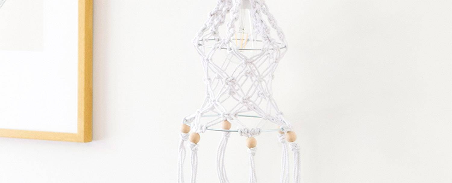 Macrame Pendant Light – We Make Collective regarding Macrame Pendant Lights (Image 6 of 15)