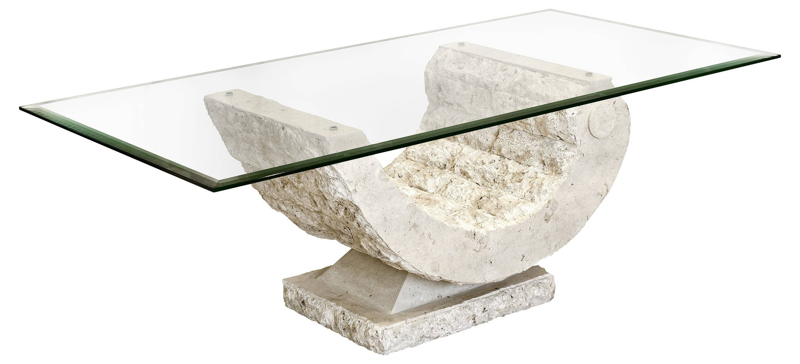 Mactan Stone Marina Coffee Table - Be Fabulous! pertaining to Glass And Stone Coffee Table (Image 8 of 15)
