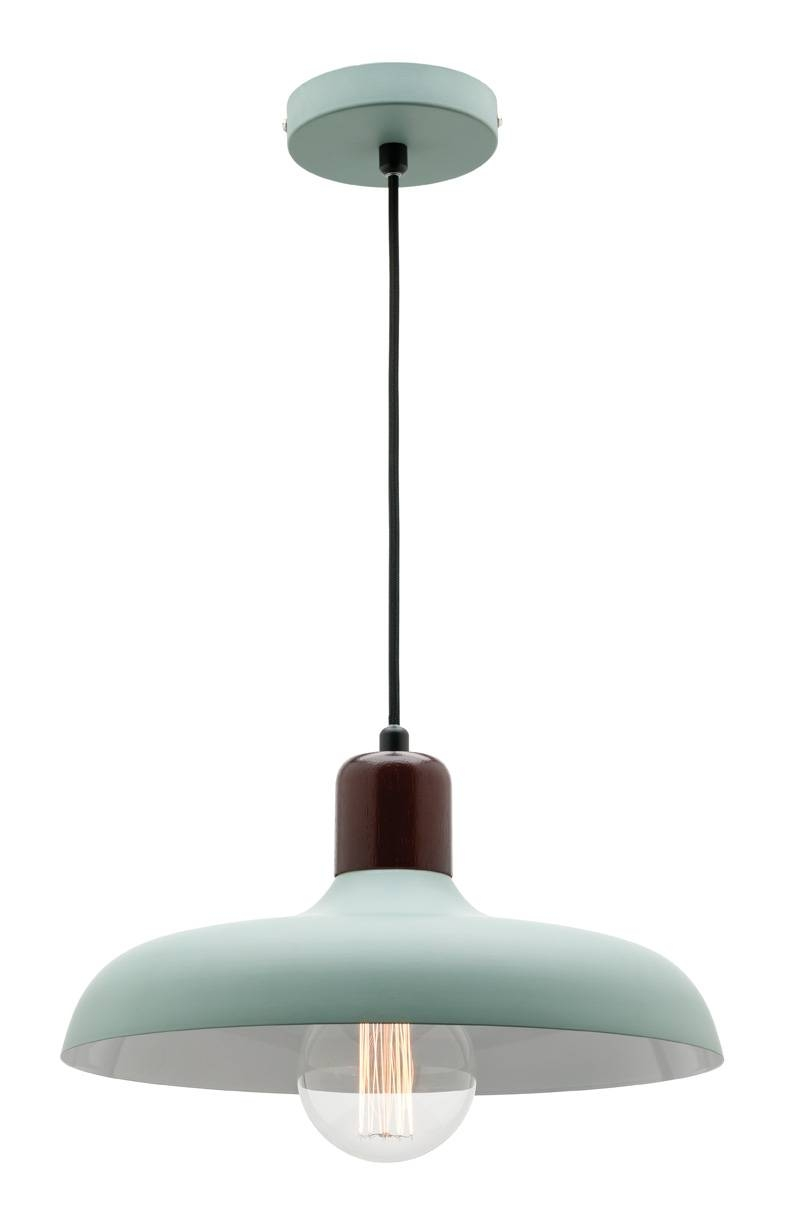 Madeline Pendant Light White Or Duck Egg Green With Timber within Mercator Pendant Lights (Image 9 of 15)