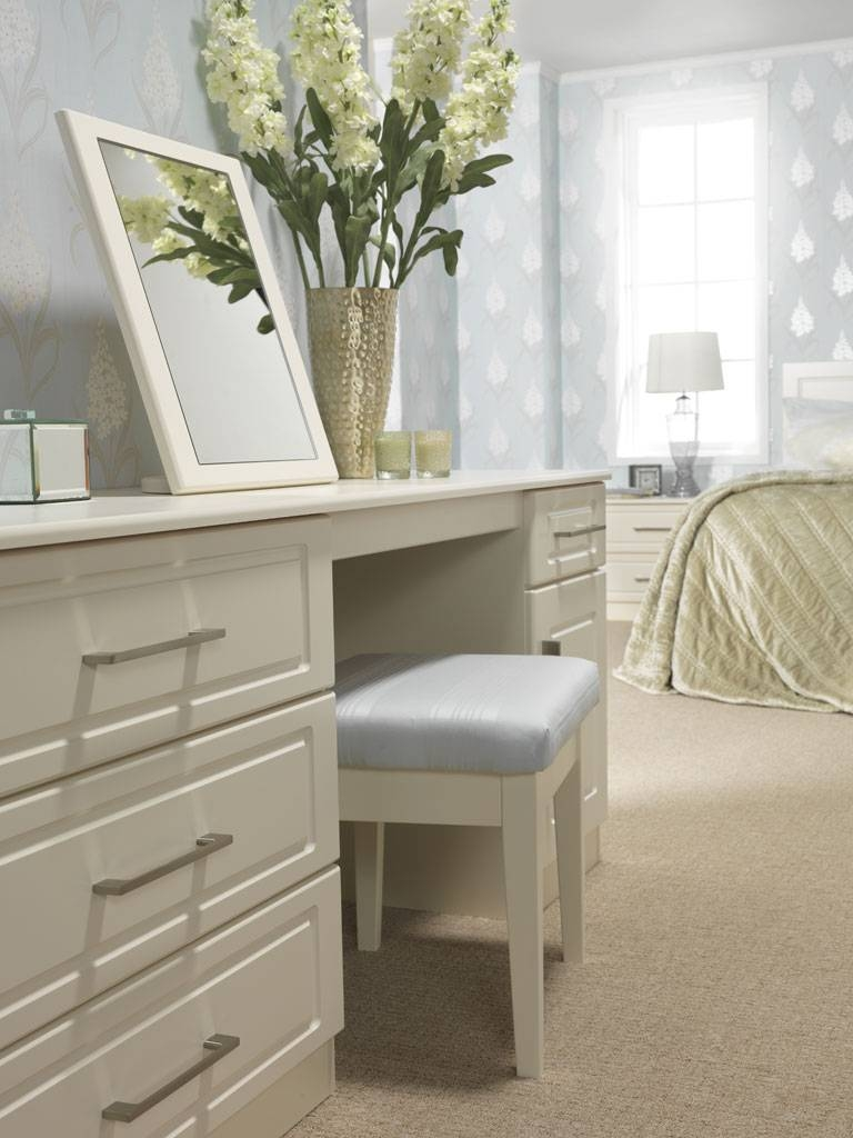 Madrid Range In A Jasmine Finish; Fitted Dressing Table And with Free Standing Mirrors For Dressing Table (Image 9 of 15)