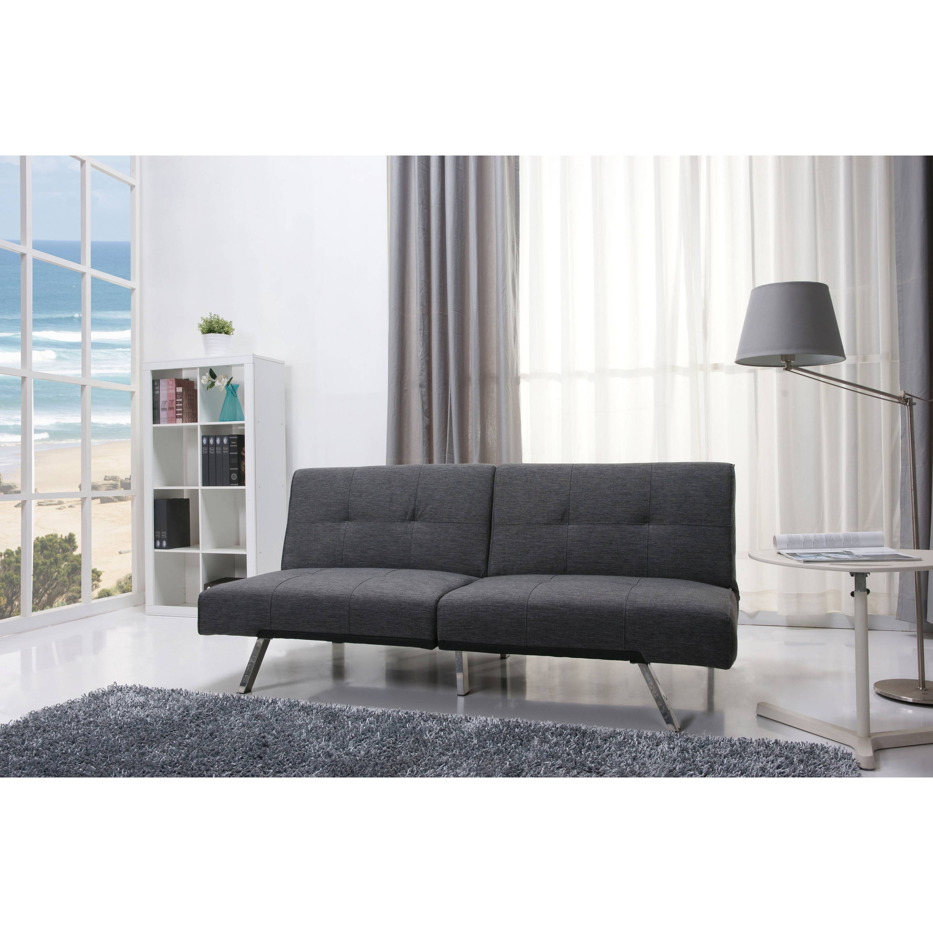 Mainstays Contempo Futon Sofa Bed 33 With Inside Beds