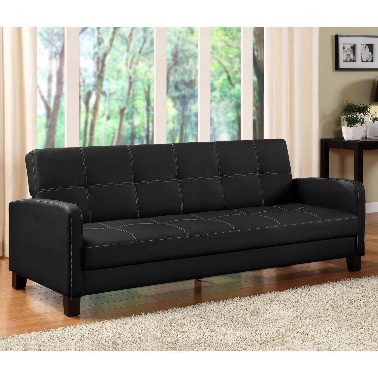 Mainstays Contempo Futon Sofa Bed Assembly Ins #5566 regarding Mainstays Contempo Futon Sofa Beds (Image 10 of 15)