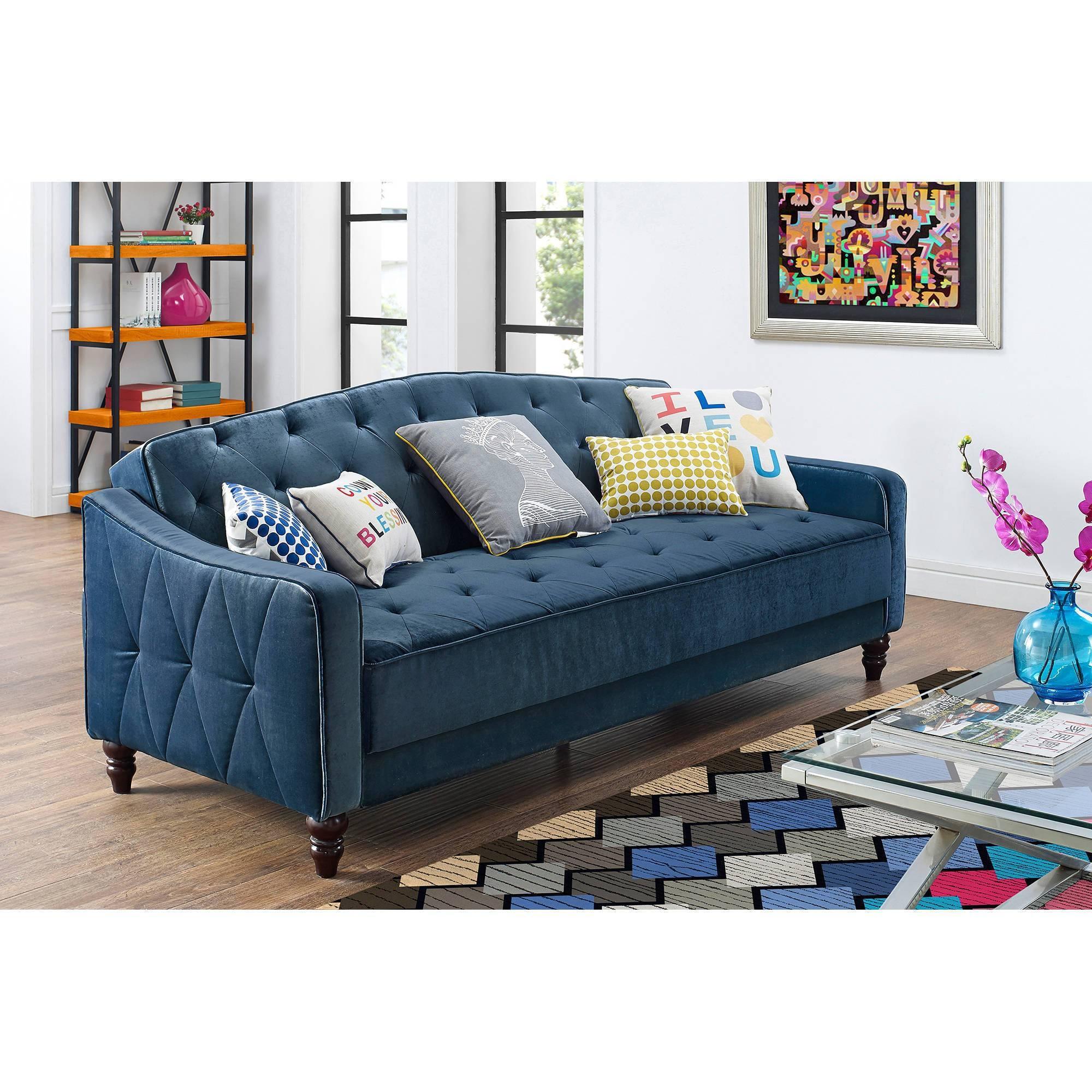 Mainstays Contempo Futon Sofa Bed | Roselawnlutheran with Mainstays Contempo Futon Sofa Beds (Image 12 of 15)