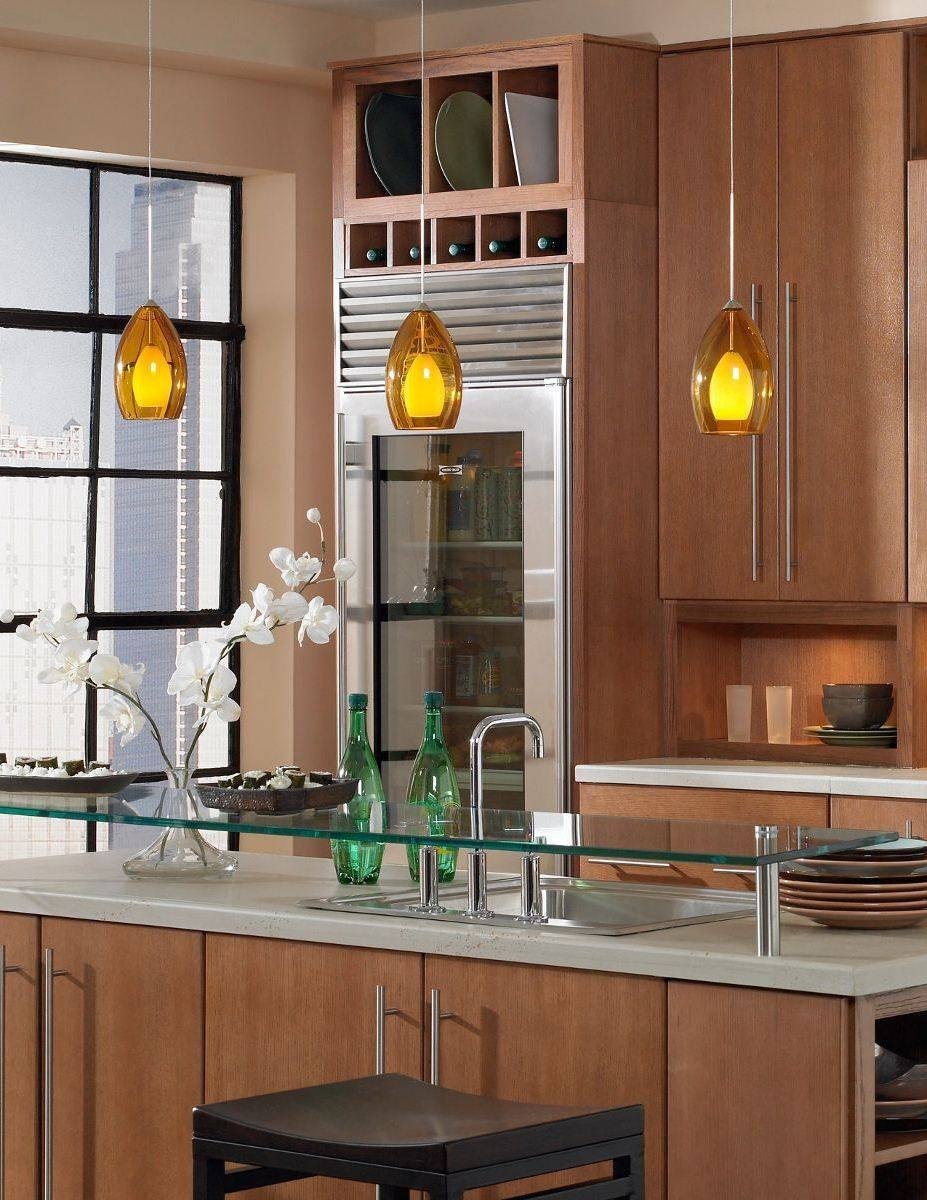 Majestic Kitchen Island Pendant Lighting Bars With Amber Glass In Single Pendant Lighting For Kitchen Island (View 10 of 15)