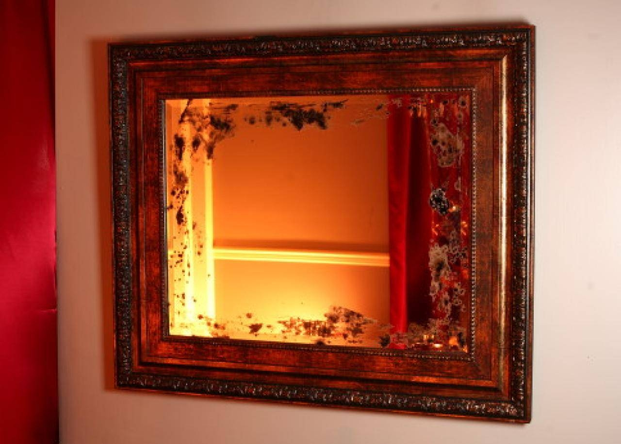 Making A Distressed Mirror | Hgtv for Distressed Cream Mirrors (Image 9 of 15)