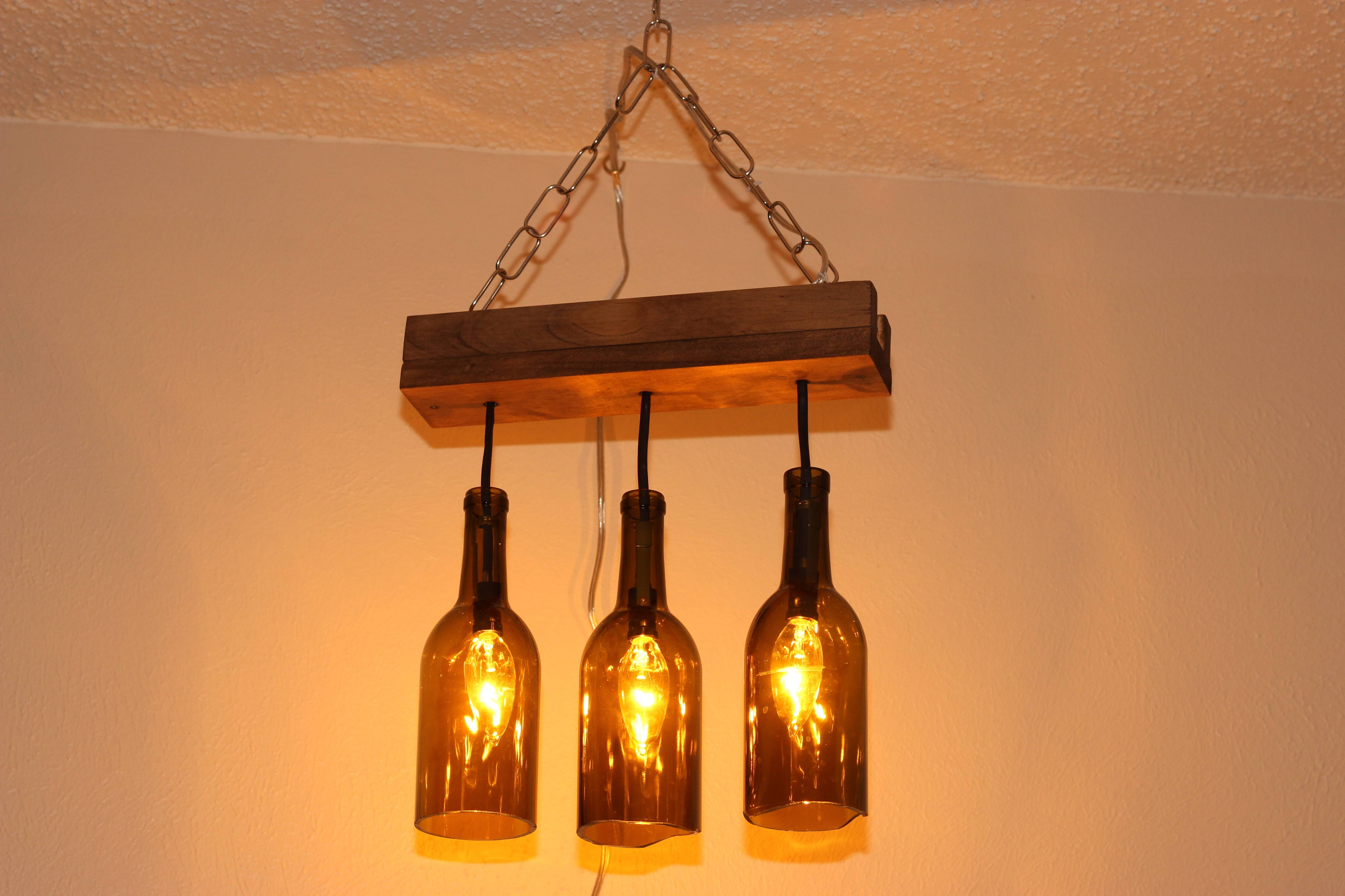 Making A Wine Bottle Chandelier | Laura Makes with Wine Glass Lights Fixtures (Image 11 of 15)