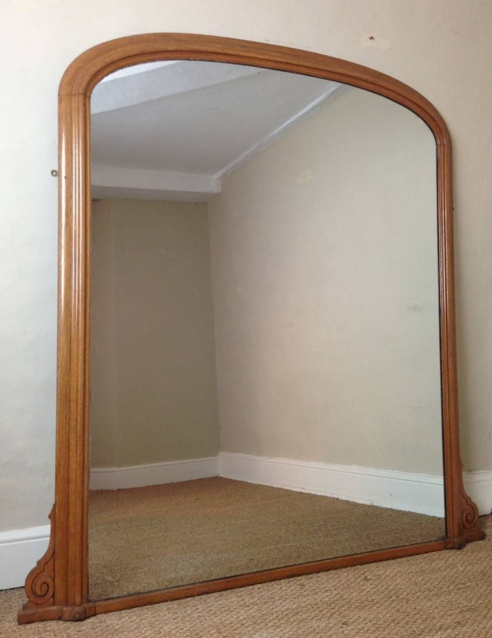 Mantle Mirror ~ Peeinn throughout Wooden Overmantle Mirrors (Image 12 of 15)