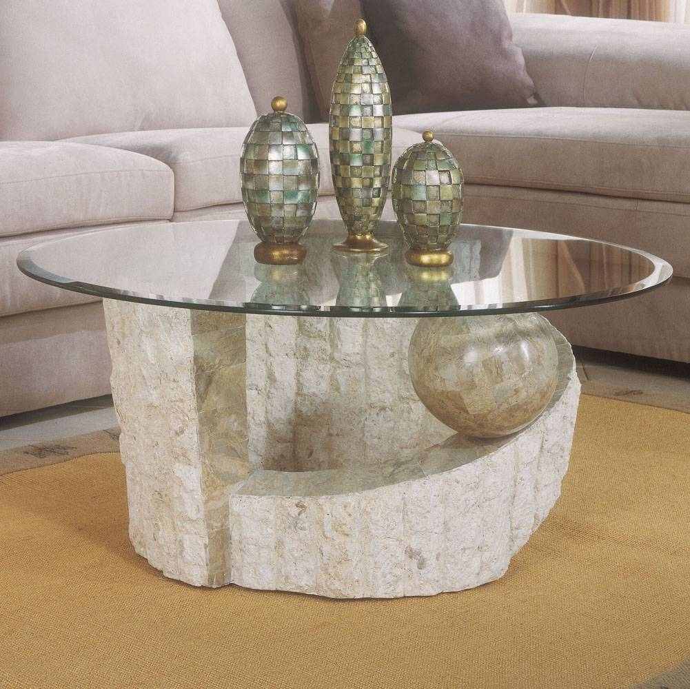 Popular Marble Base Glass Top Coffee Table - Marble base glass top coffee table