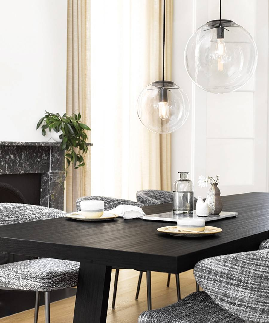 Marcel 400Mm Pendant In Clear/black with Beacon Pendant Lights (Image 13 of 15)
