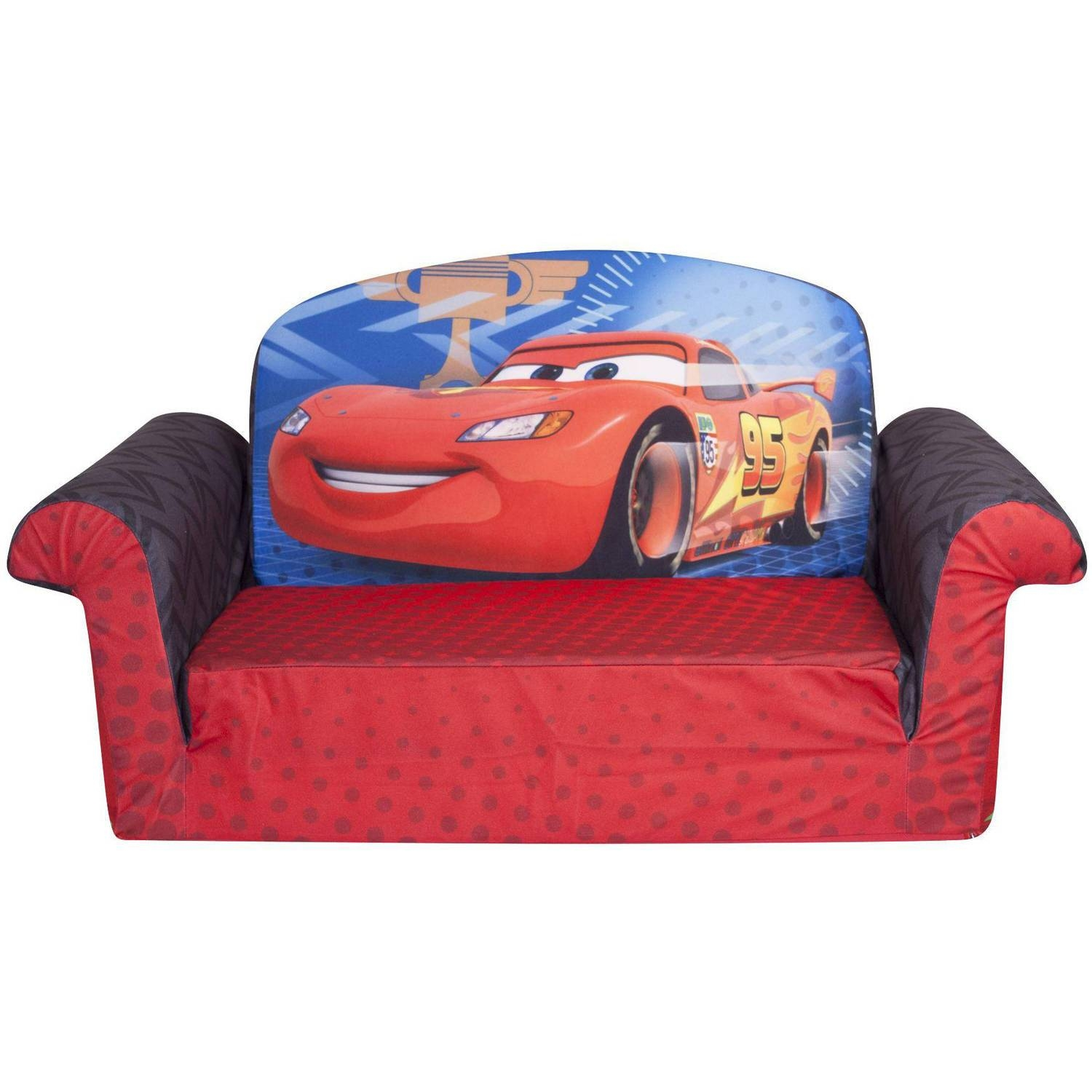Marshmallow 2 In 1 Flip Open Sofa, Disney Cars 2 – Walmart Within Childrens Sofa Bed Chairs (View 12 of 15)