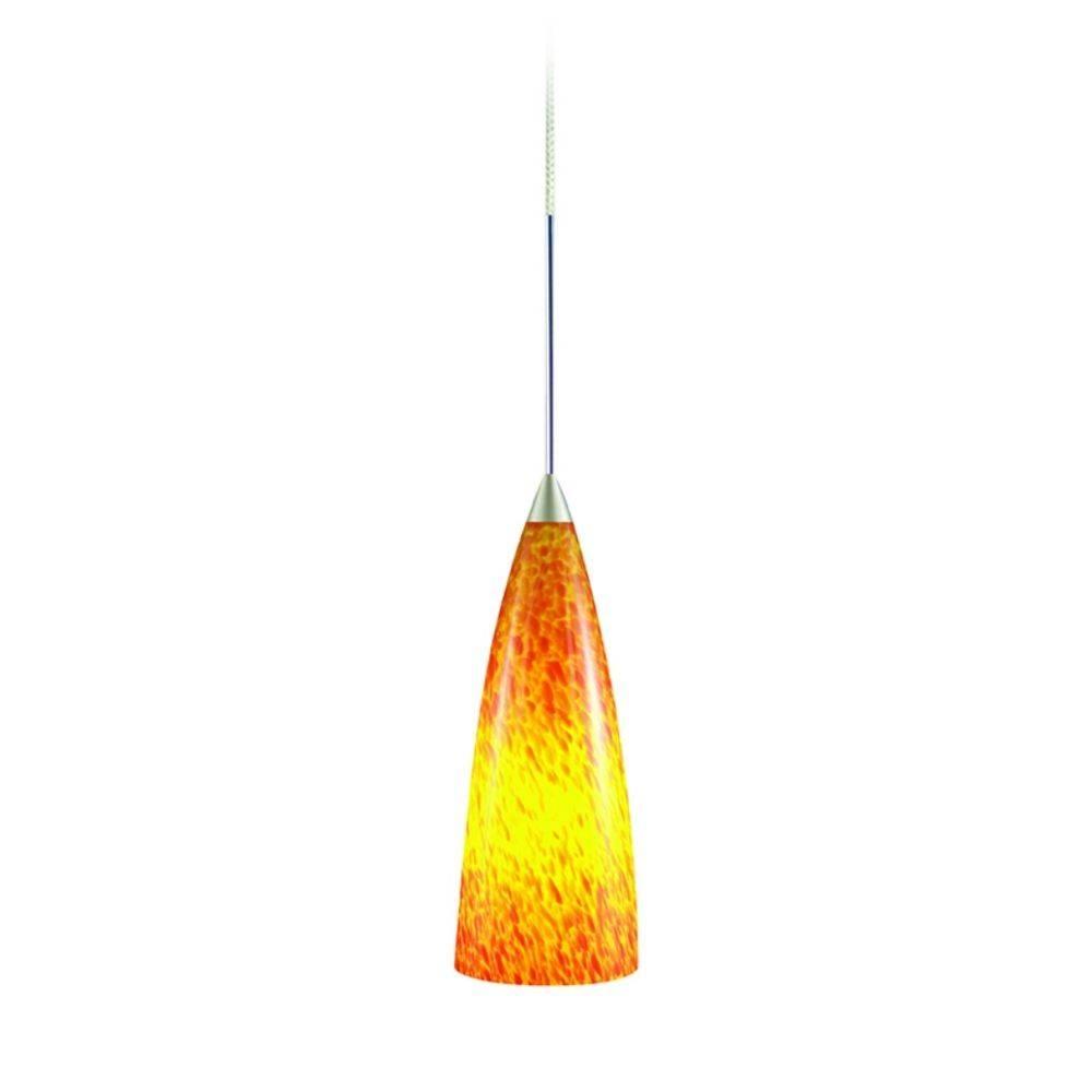 Marvelous Orange Pendant Light Related To Interior Decor Concept In Orange Glass Pendant Lights (View 9 of 15)