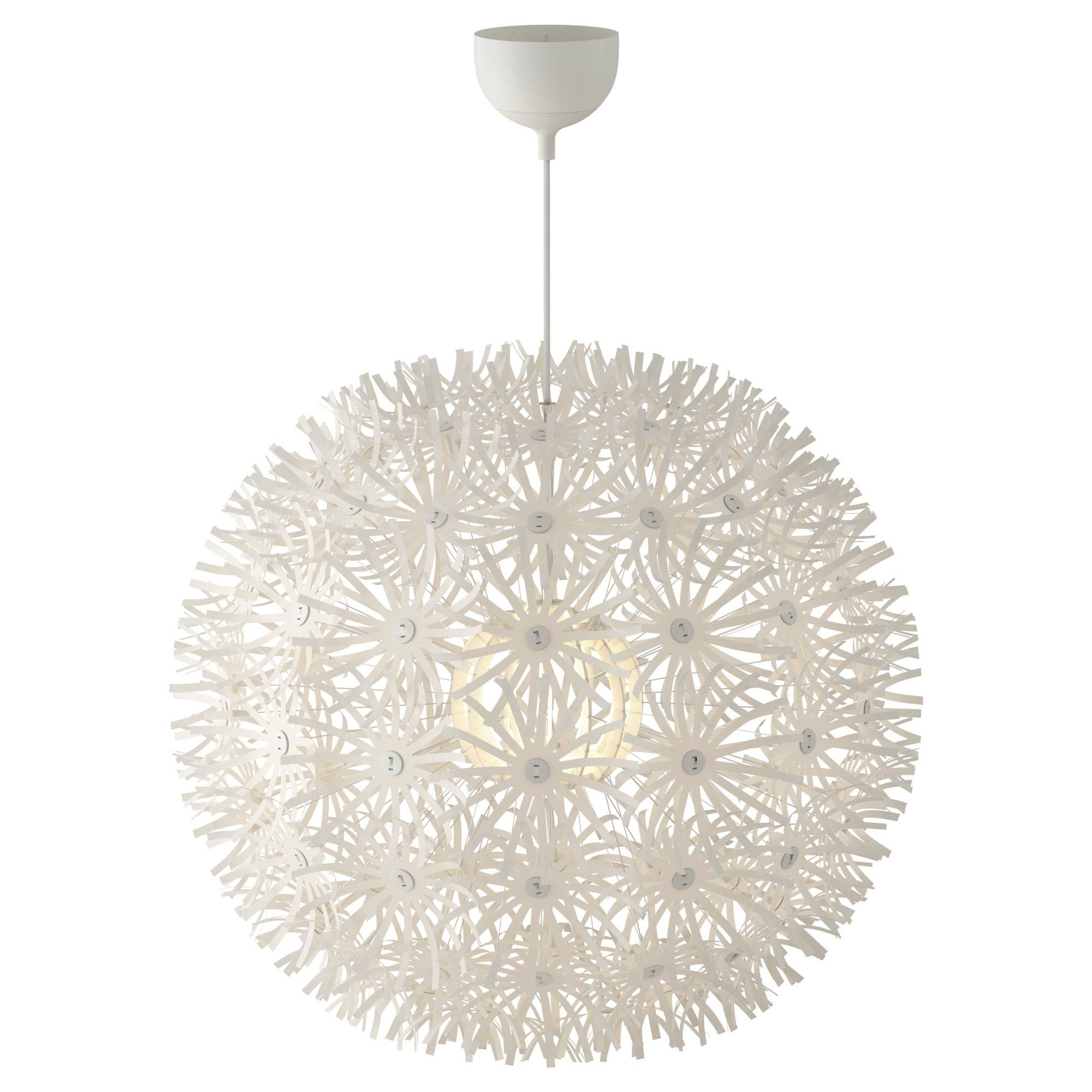 Maskros Pendant Lamp 55 Cm - Ikea regarding White Flower Pendant Lights (Image 9 of 15)
