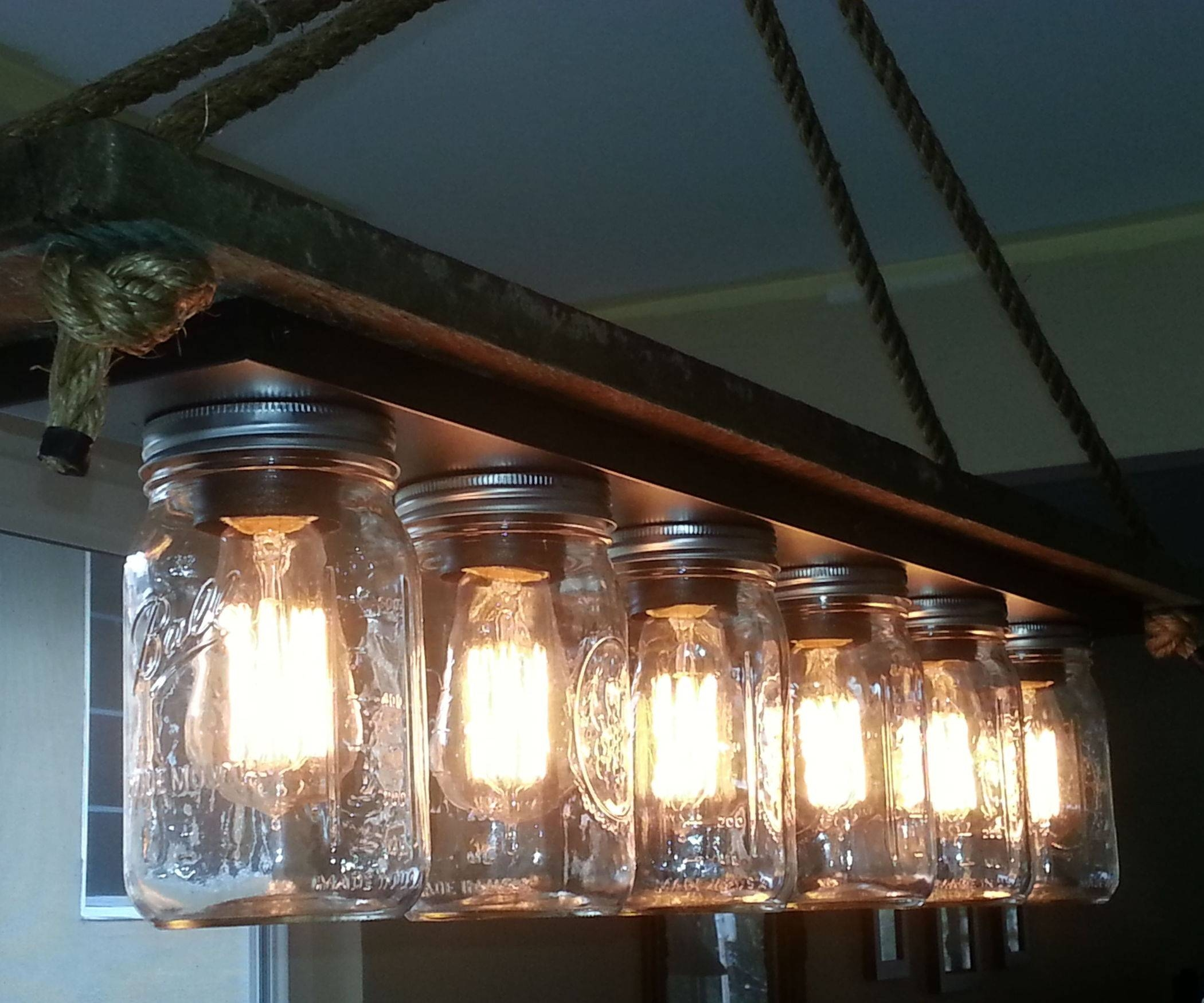 Mason Jar 6 Light Edison Hanging Lamp: 7 Steps (With Pictures) regarding Mason Jar Pendant Lights for Sale (Image 4 of 15)