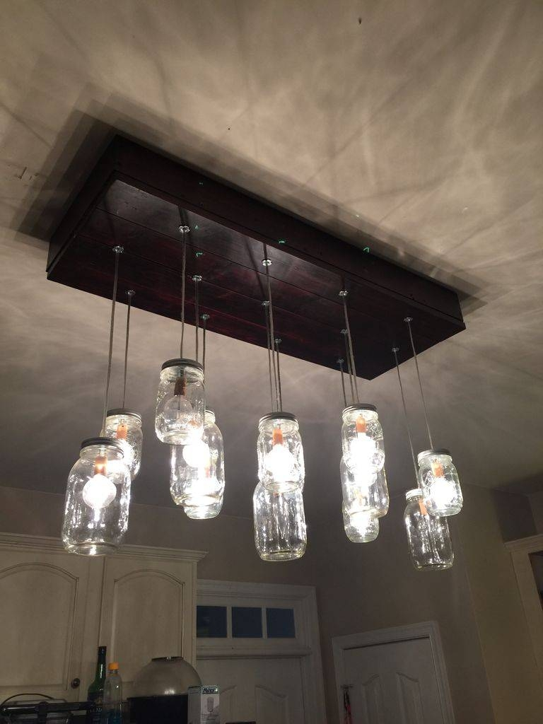Mason Jar Chandelier: 10 Steps (With Pictures) intended for Multiple Pendant Lights One Fixture (Image 9 of 15)