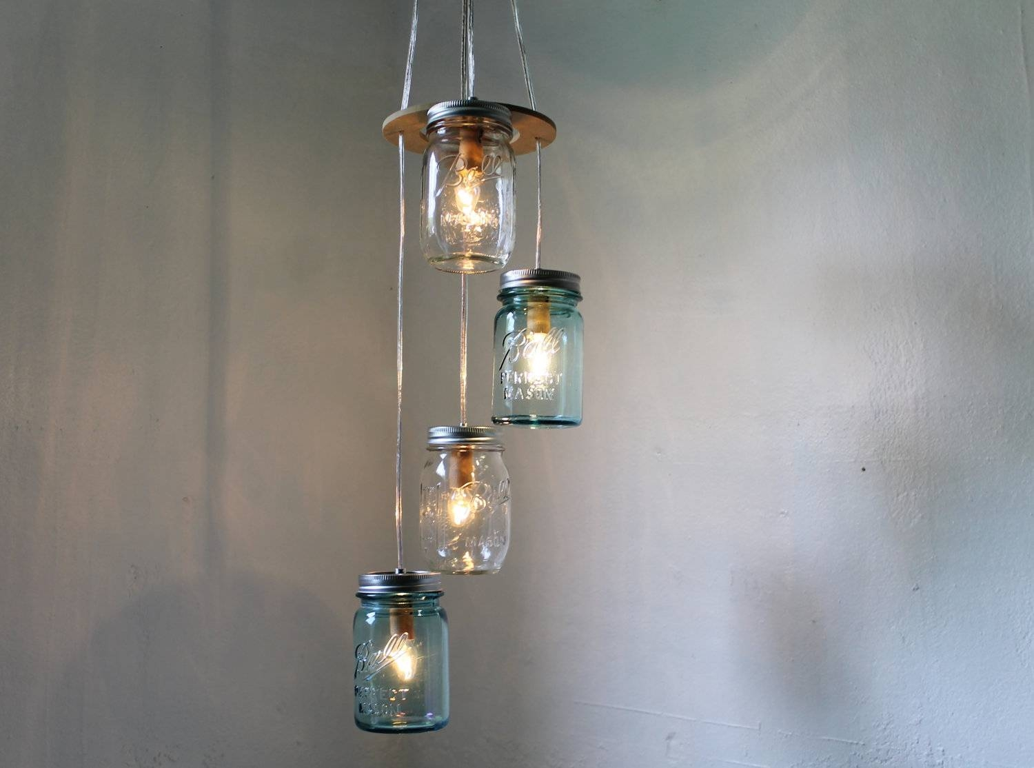 Mason Jar Light Fixture Chandelier : Ideas Mason Jar Light Fixture throughout Blue Mason Jar Lights Fixtures (Image 10 of 15)