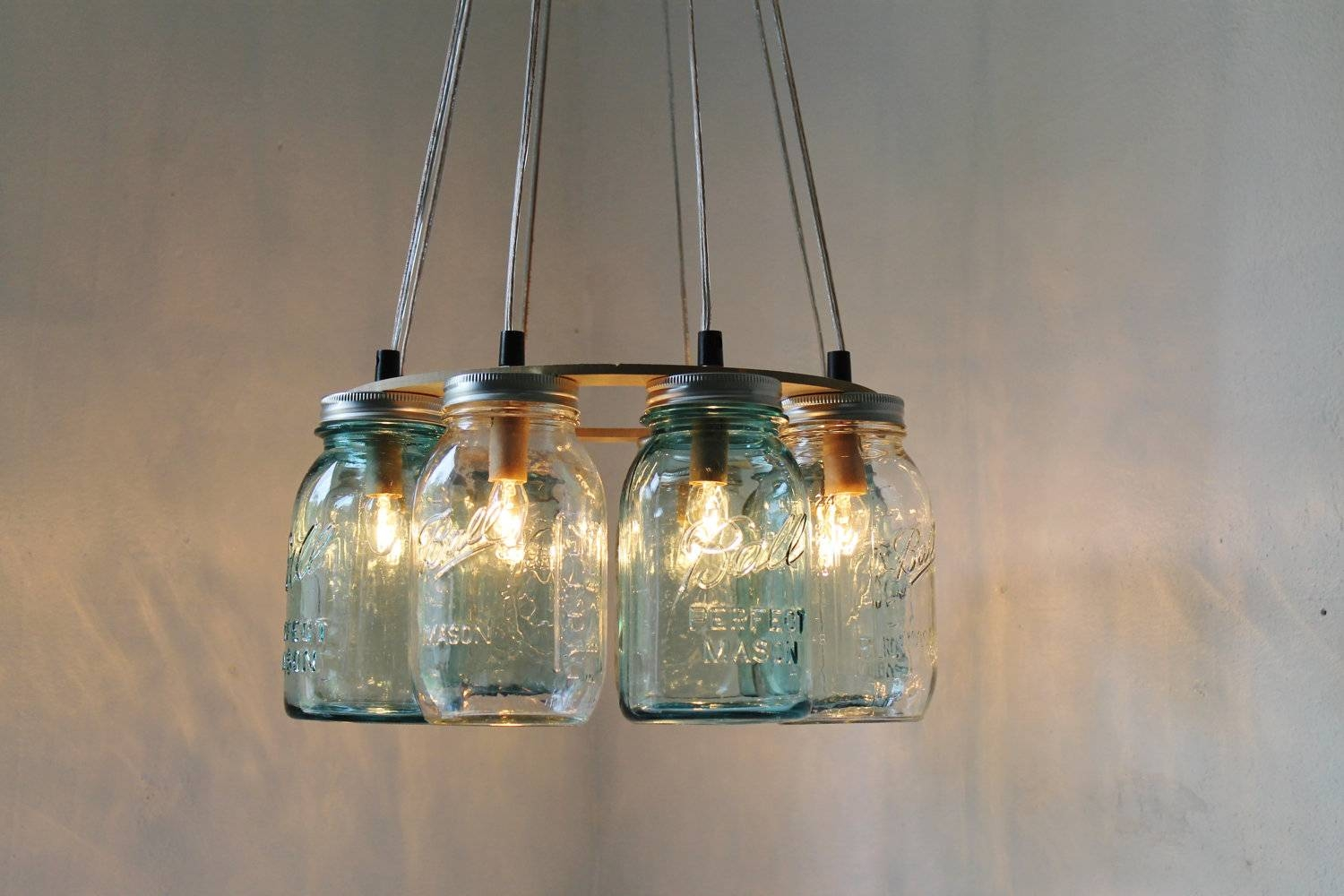 Mason Jar Pendant Light. Mason Jars Pendant Lamp (View 1 of 15)
