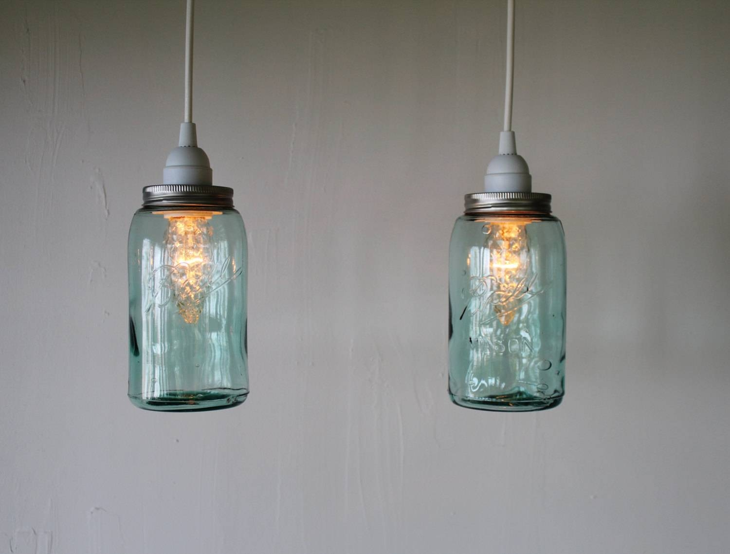 Mason Jar Pendant Lights. One Mason Jar Track Light Single Vintage pertaining to Blue Mason Jar Lights Fixtures (Image 12 of 15)