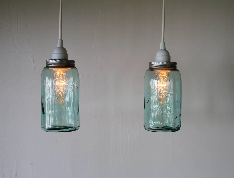 Mason Jar Pendant Lights. One Mason Jar Track Light Single Vintage throughout Ball Jar Pendant Lights (Image 13 of 15)