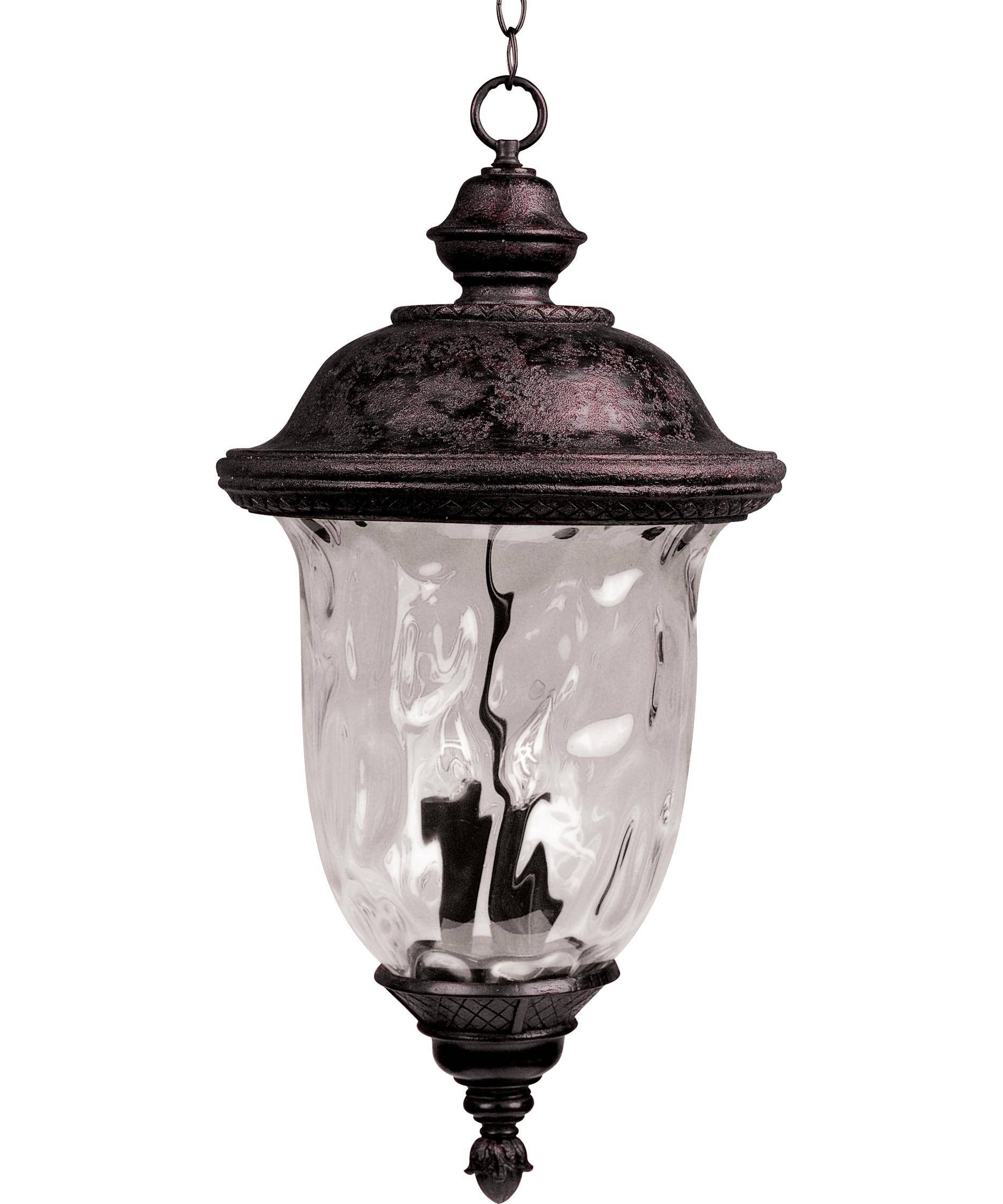 Maxim Lighting 40427 Carriage House Vx 13 Inch Wide 3 Light with Carriage Pendant Lights (Image 7 of 15)
