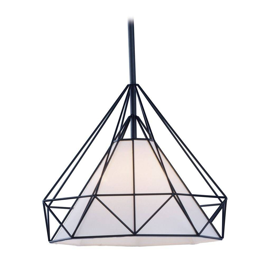 Maxim Lighting Teepee Black Pendant Light With Octagon Shade for Octagon Pendant Lights (Image 7 of 15)