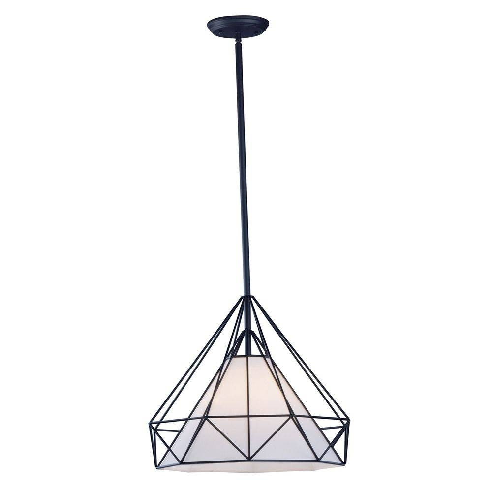 Maxim Lighting Teepee Black Pendant Light With Octagon Shade with regard to Octagon Pendant Lights (Image 8 of 15)