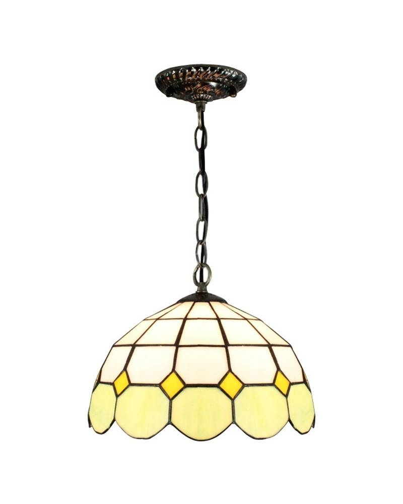 Mediterranean Style Tiffany Pendant Light In Different Light With Stained Glass Pendant Lights (View 3 of 15)