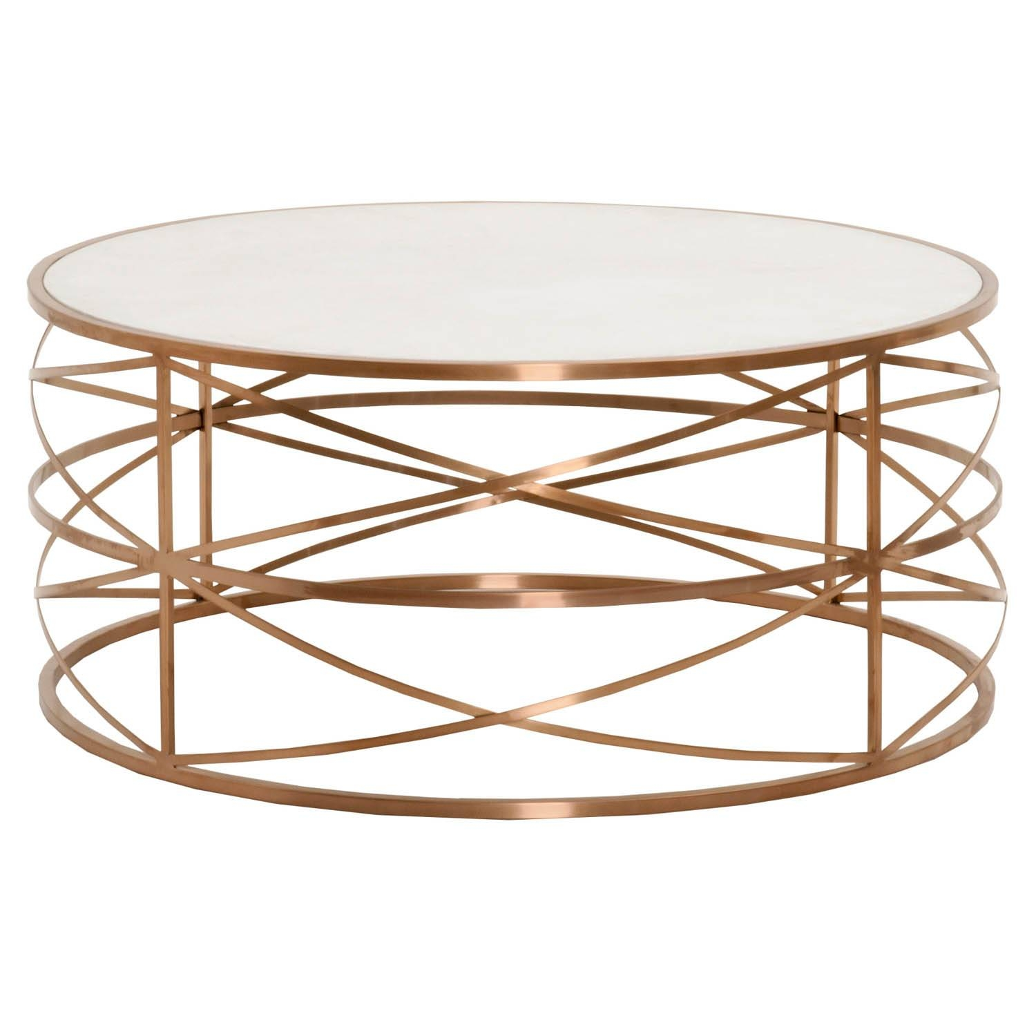 15 Collection of Gold Round Coffee Table