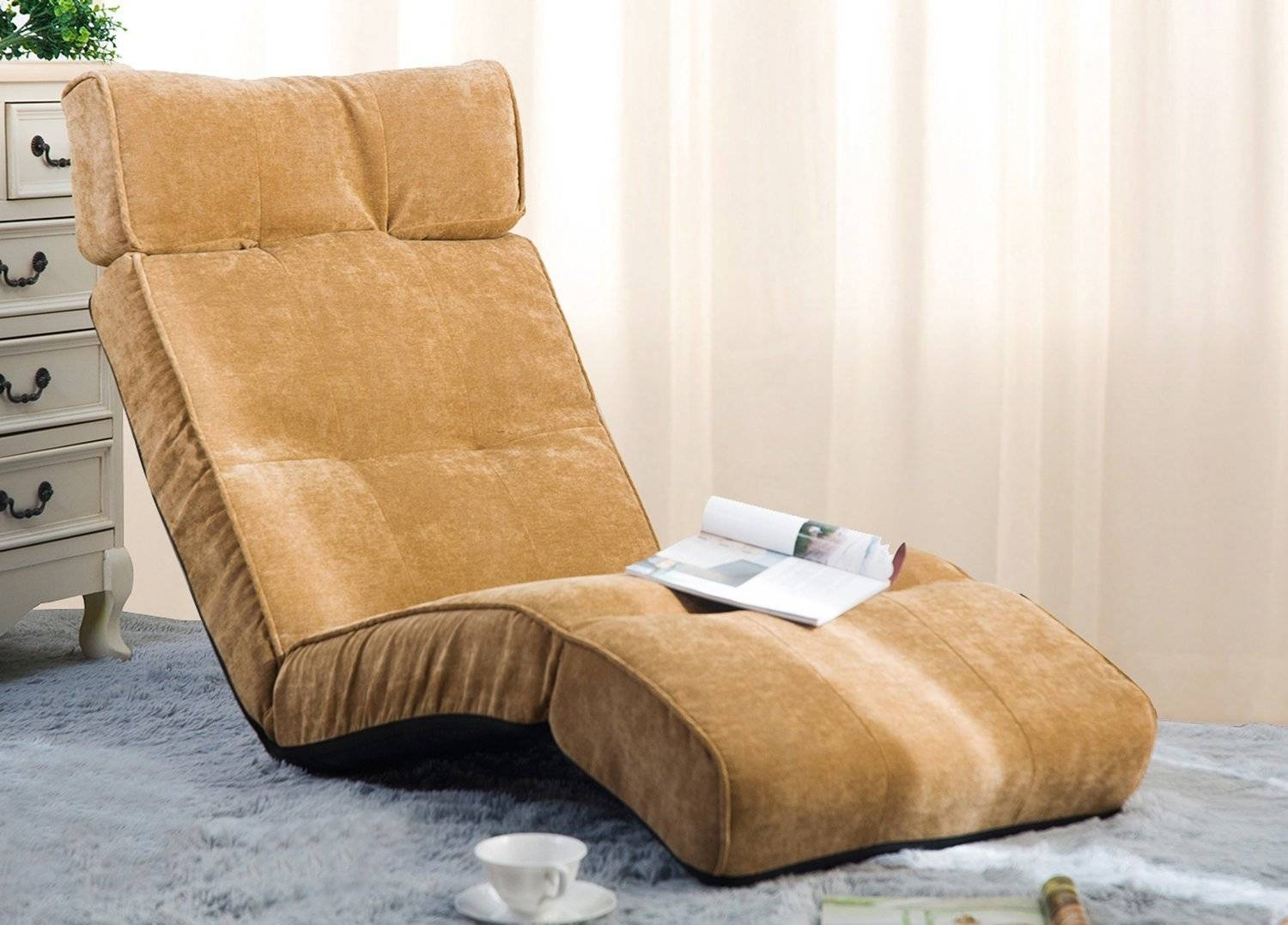 Merax Adjustable Folding Floor Couch Lounger Sofa Chair - Folding with Lazy Sofa Chairs (Image 12 of 15)
