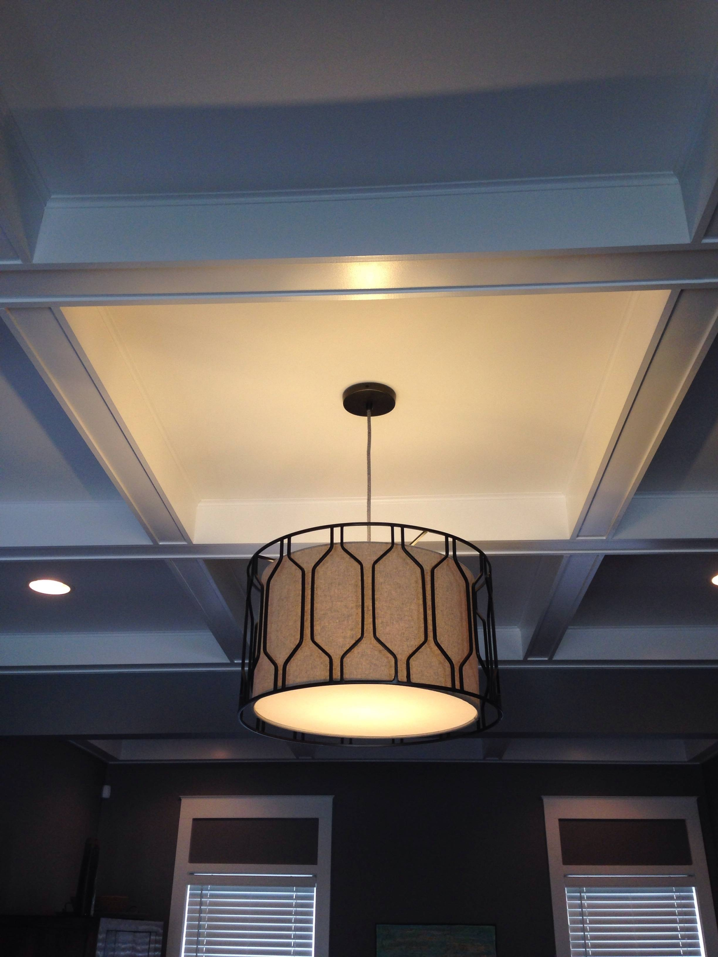 Metal Honeycomb Drum Pendant | Two Girls Blog with West Elm Drum Pendant Lights (Image 14 of 15)