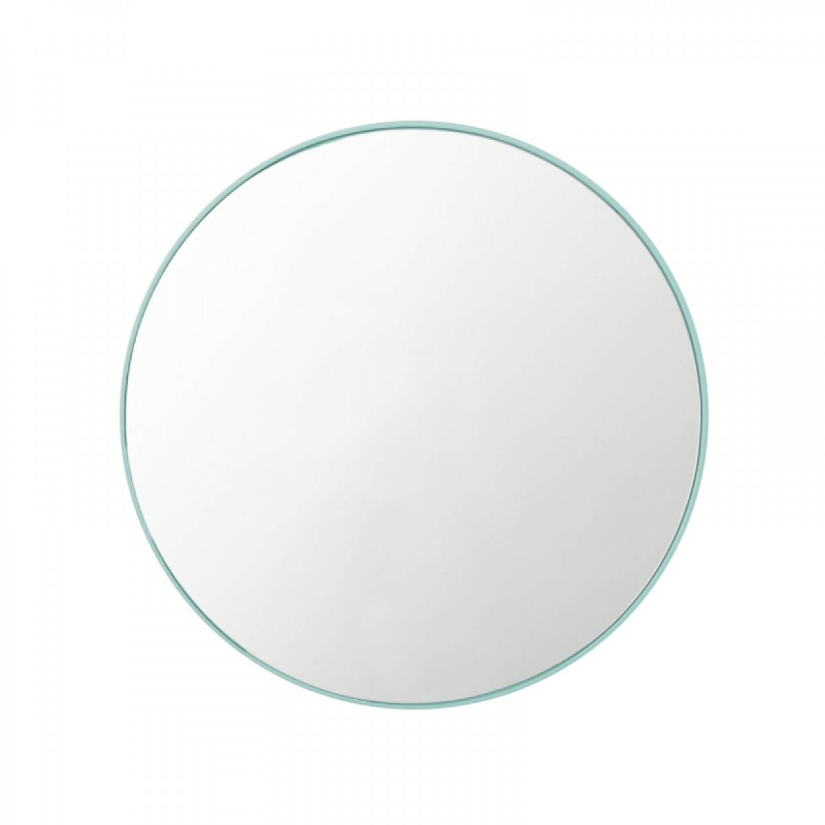 Middle Of Nowhere - Flynn Round Mirror (Mint) - Modern Homewares for White Round Mirrors (Image 8 of 15)