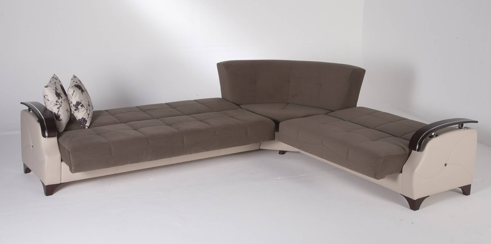 Milan Corner Sofa Bed With Storage Right Hand Grey – S3Net Pertaining To Small Sectional Sofas With Storage (View 7 of 15)