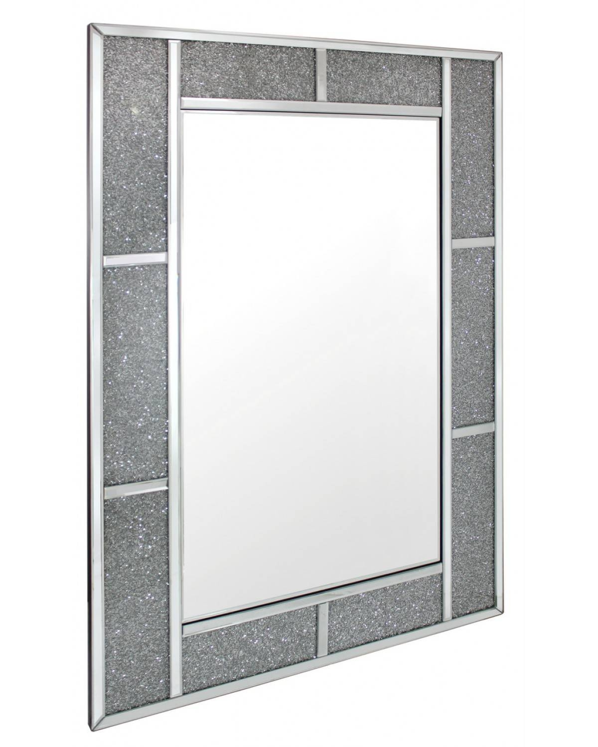Milano Crystal Brick Effect Wall Mirror intended for Mirrors With Crystals (Image 12 of 15)