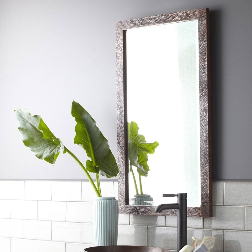 Milano Hammered Copper Rectangular Wall Mirrors Cpm294 | Native Trails with Small Antique Wall Mirrors (Image 12 of 15)