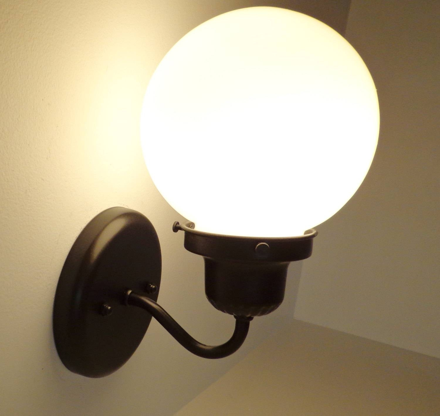 Milk Glass Globe Subway Sconce Light Fixture Wall Flush intended for Milk Glass Lights Fixtures (Image 8 of 15)
