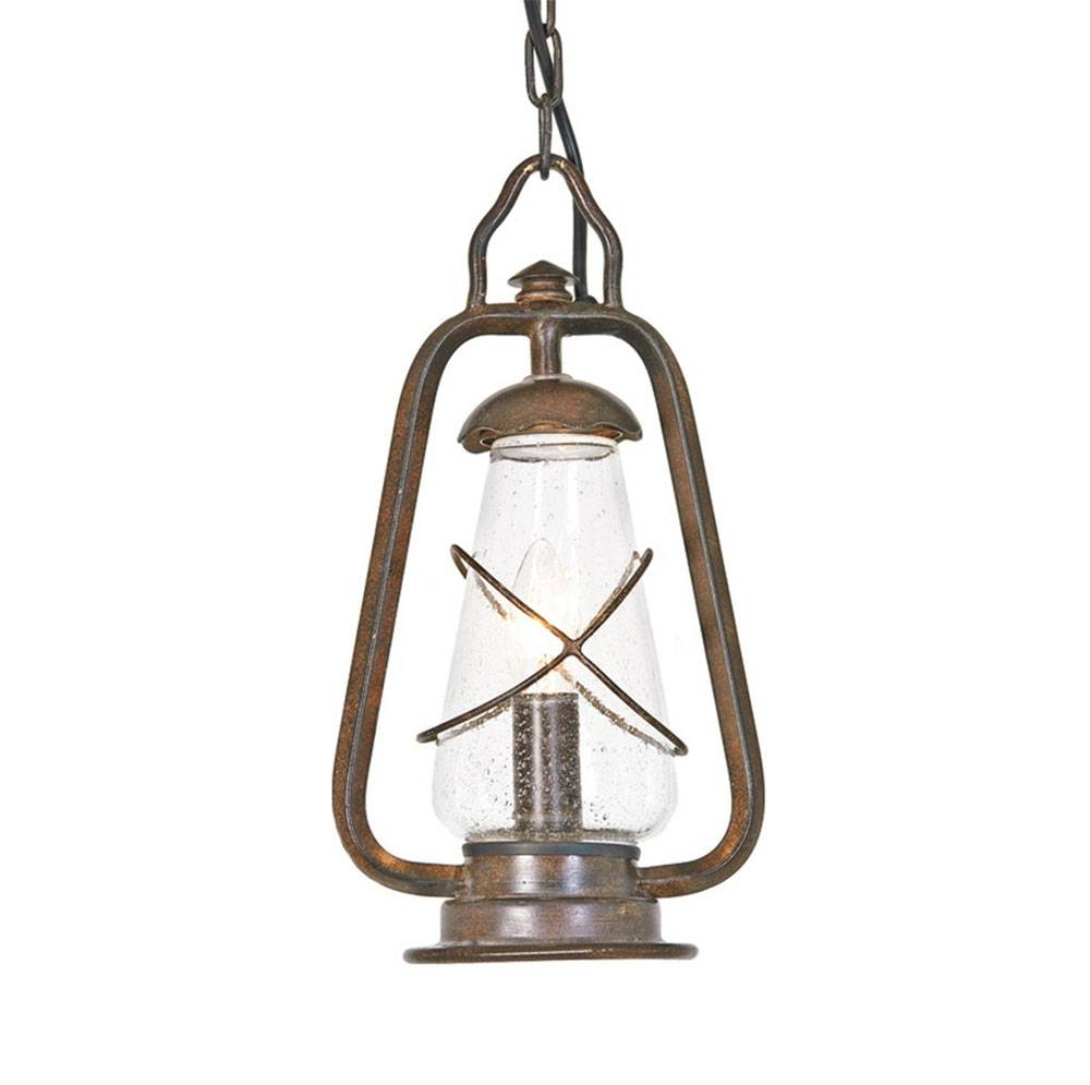 Miners Chain Wrought Iron Pendant Light with regard to Wrought Iron Pendant Lights Australia (Image 11 of 15)