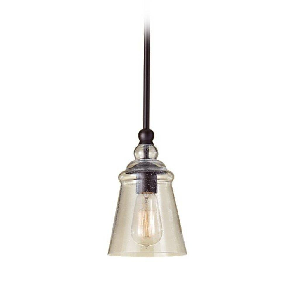 Mini-Pendant Light With Clear Glass | P1261Orb | Destination Lighting with regard to Oil Rubbed Bronze Mini Pendant Lights (Image 6 of 15)