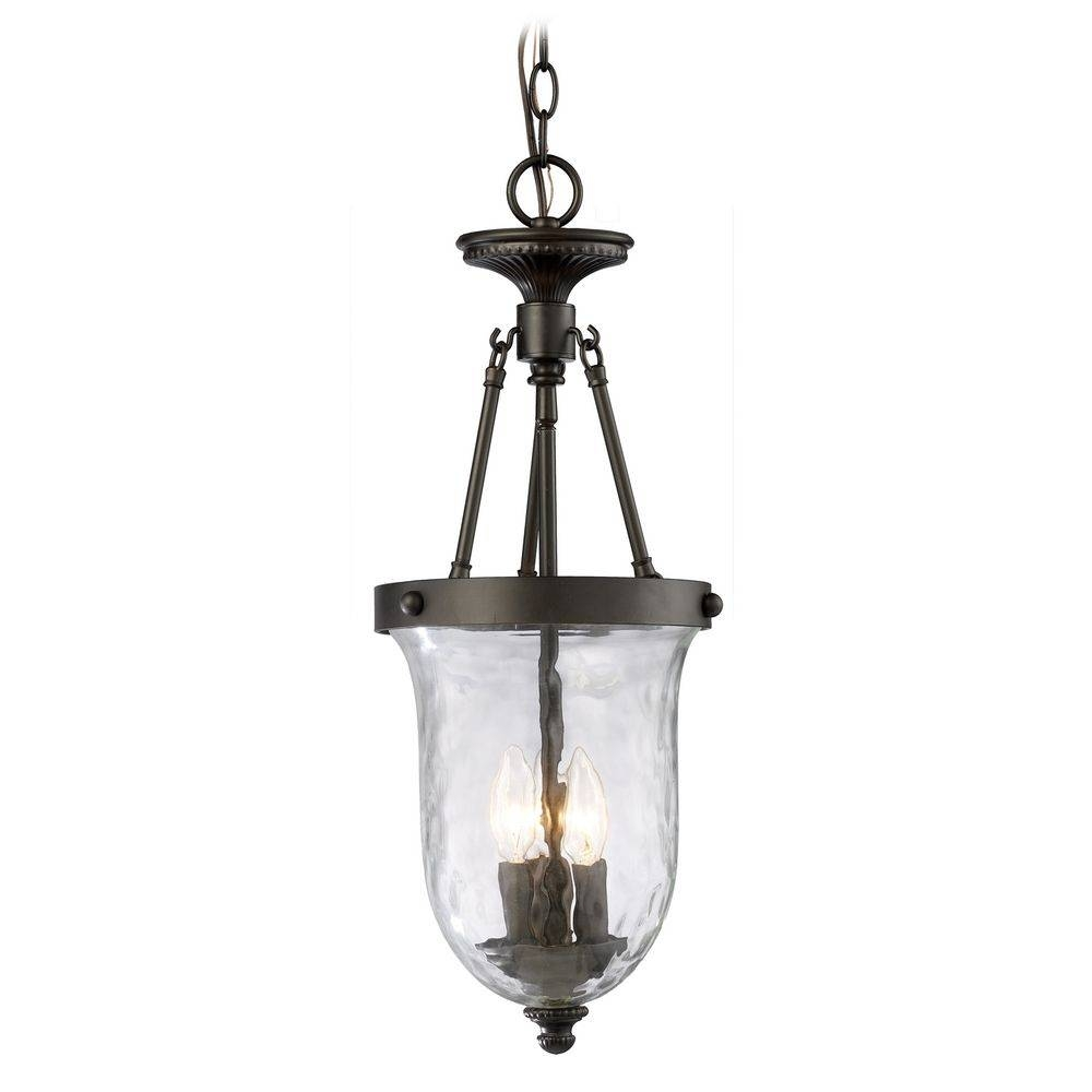Mini-Pendant Light With Clear Water Glass | 66310-3 | Destination intended for Oil Rubbed Bronze Mini Pendant Lights (Image 7 of 15)