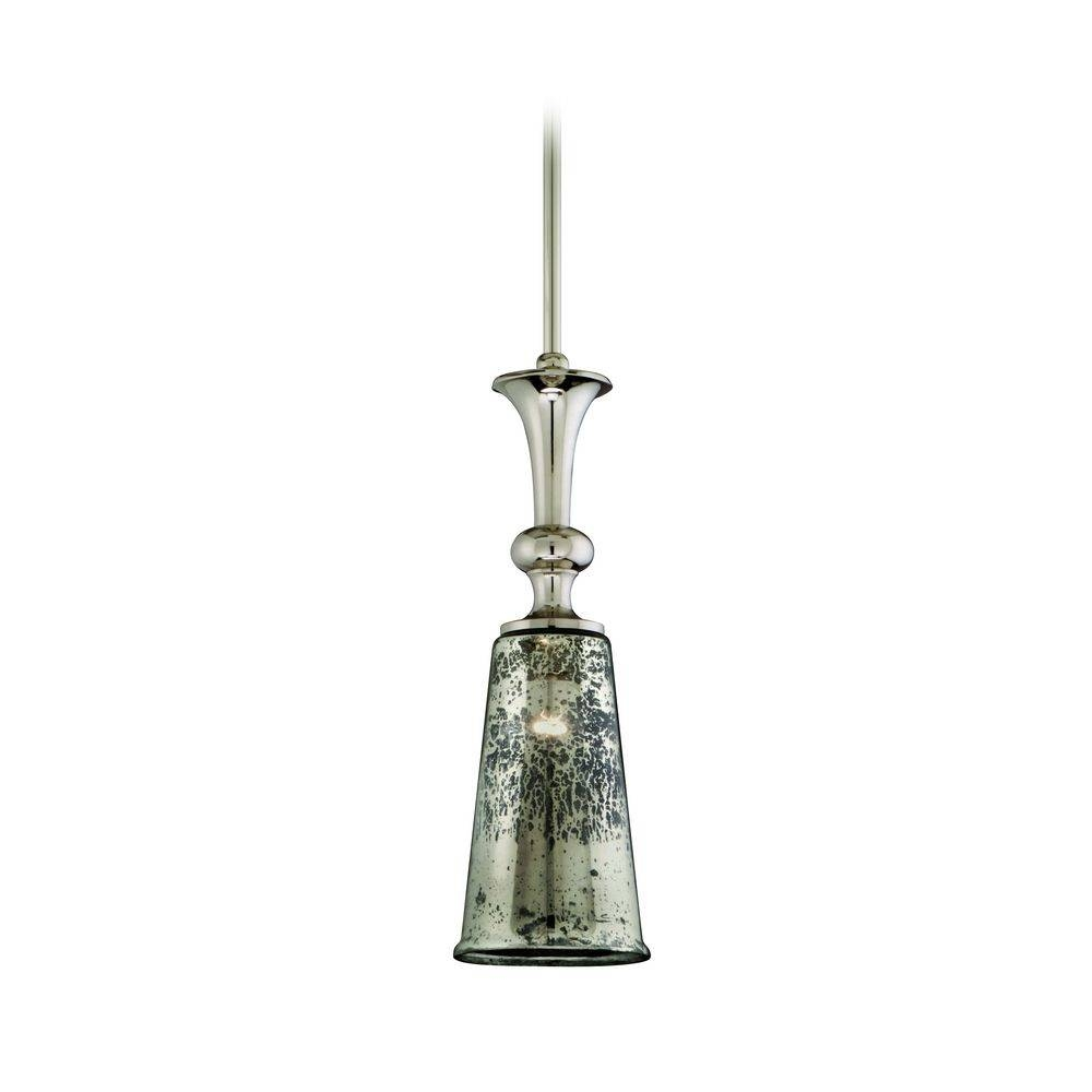 Mini-Pendant Light With Mercury Glass | 103-43 | Destination Lighting intended for Mercury Glass Pendant Lighting (Image 12 of 15)