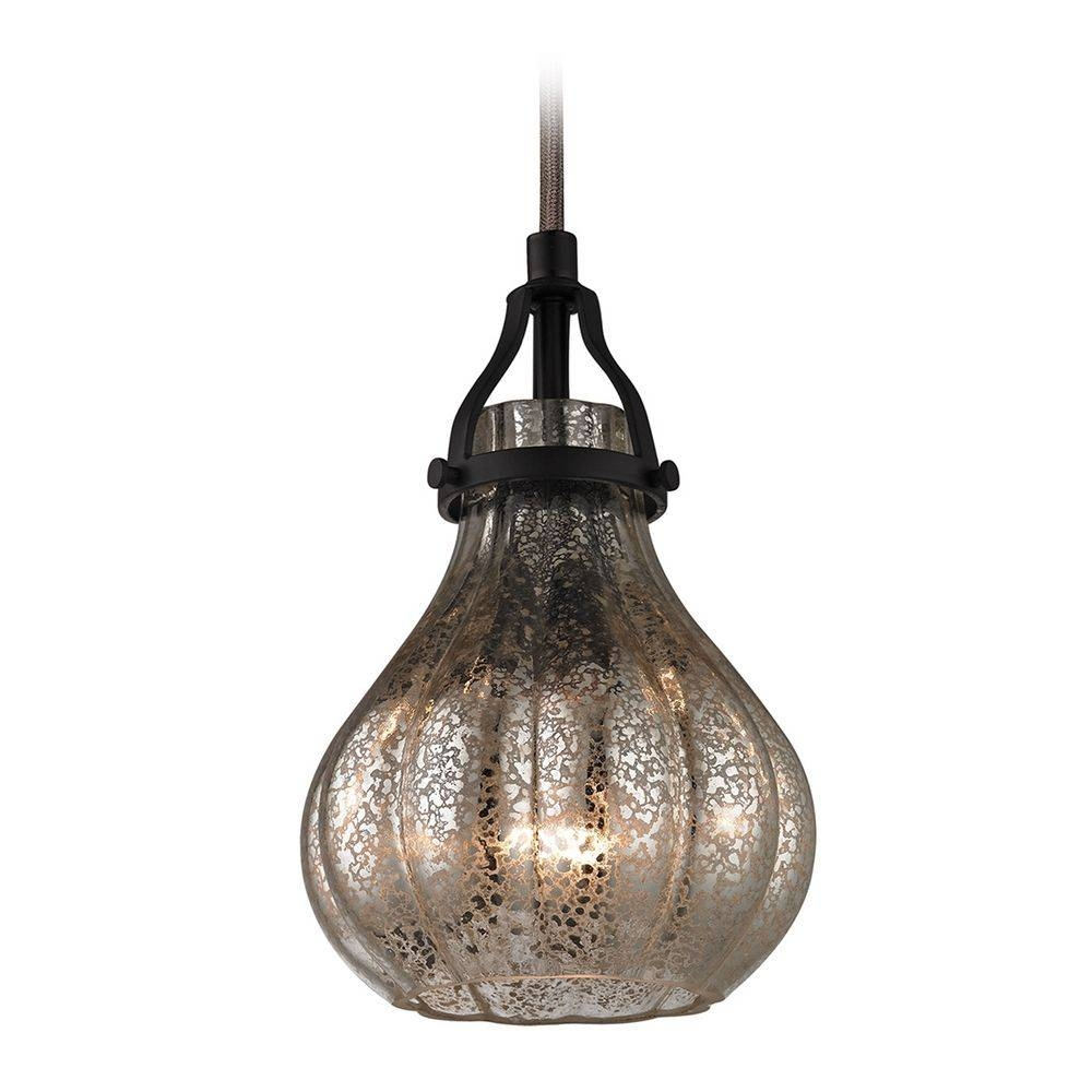 Mini-Pendant Light With Mercury Glass | 46024/1 | Destination Lighting with Mercury Glass Ceiling Lights (Image 13 of 15)