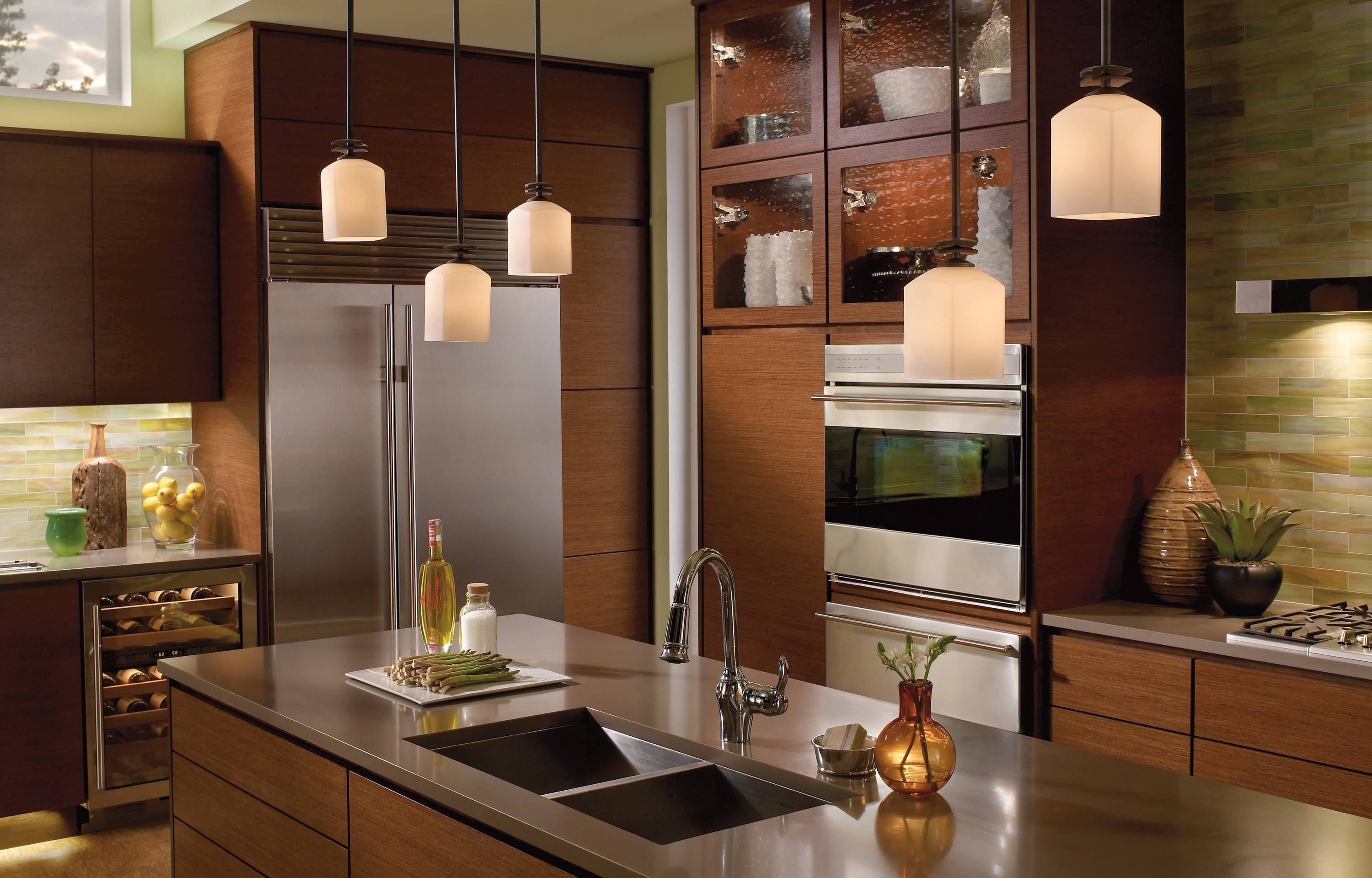 Mini Pendant Lights Over Kitchen Island – Aneilve with Mini Lights Pendant for Kitchen Island (Image 11 of 15)