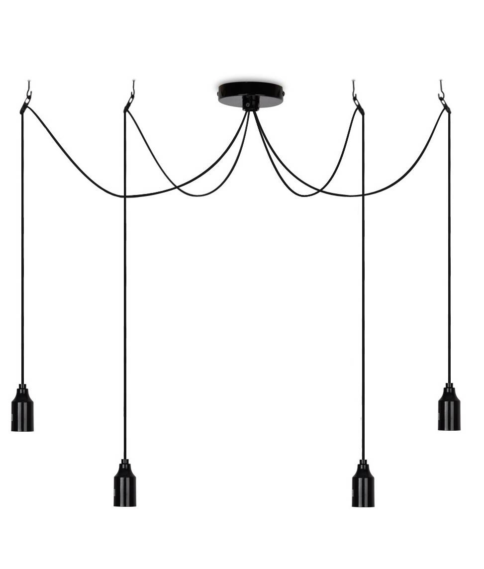 Minimalist Bare Bulb Pendant - 4 Lamps throughout Exposed Bulb Pendant Track Lighting (Image 14 of 15)
