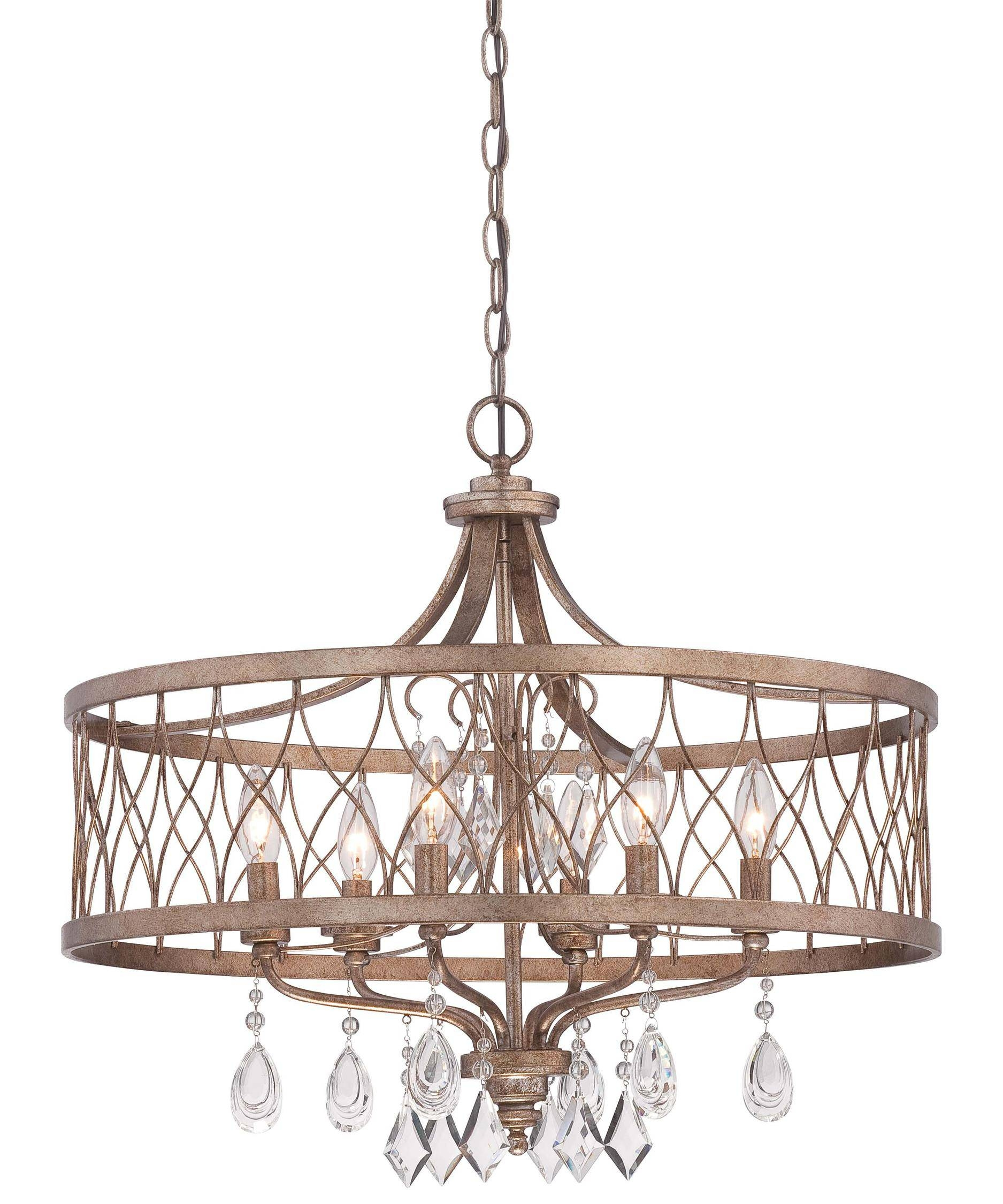 Minka Lavery 4406 West Liberty 24 Inch Wide 6 Light Large Pendant intended for Minka Lavery Pendant Lights (Image 4 of 15)