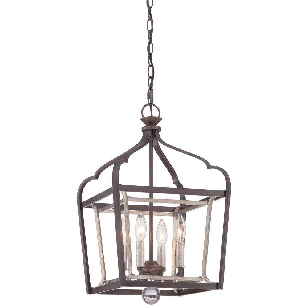 Minka Lavery Astrapia 4-Light Dark Rubbed Sienna With Aged Silver for Minka Lavery Pendants (Image 6 of 15)