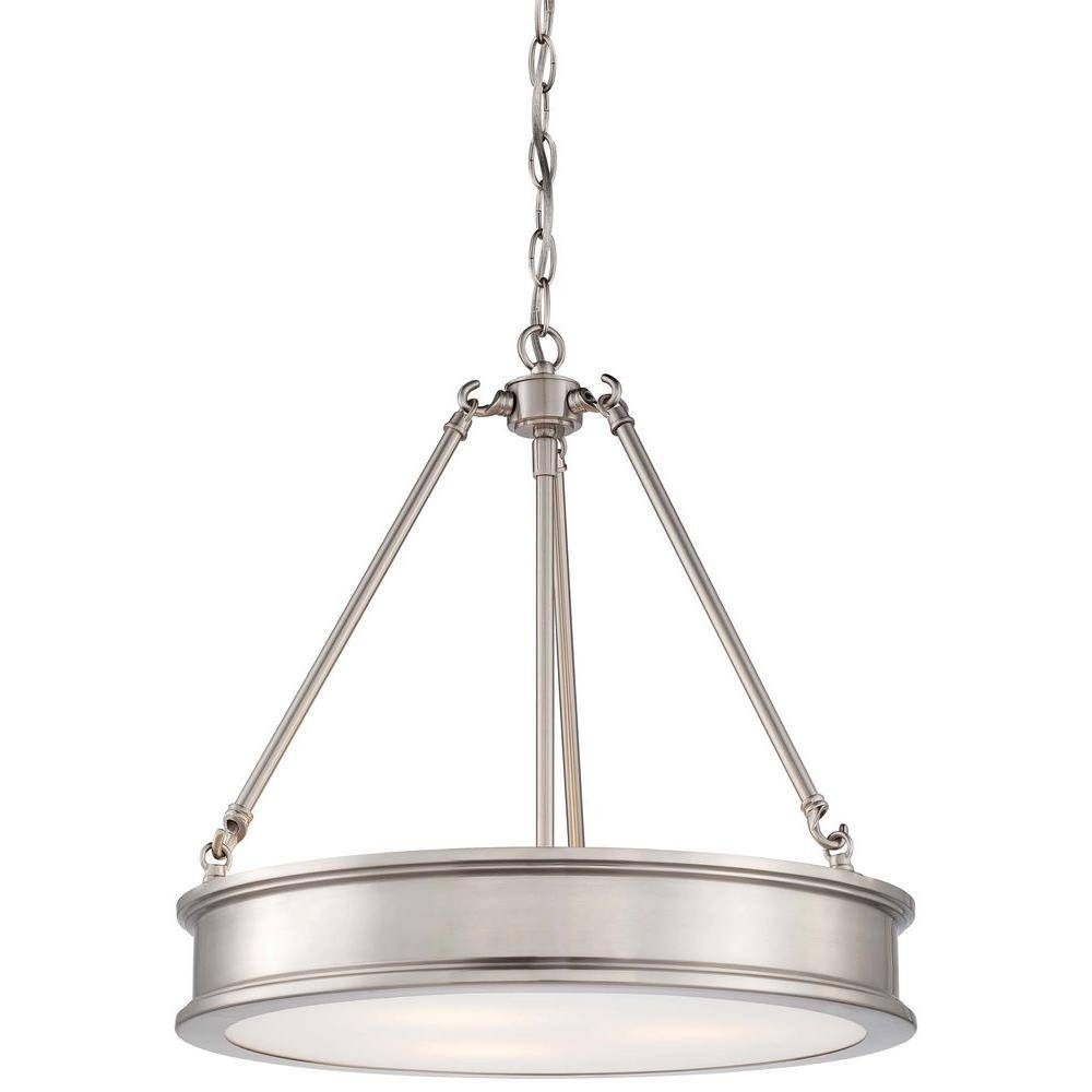 Minka Lavery Harbour Point 3-Light Brushed Nickel Pendant-4173-84 with regard to Minka Lavery Pendant Lights (Image 8 of 15)
