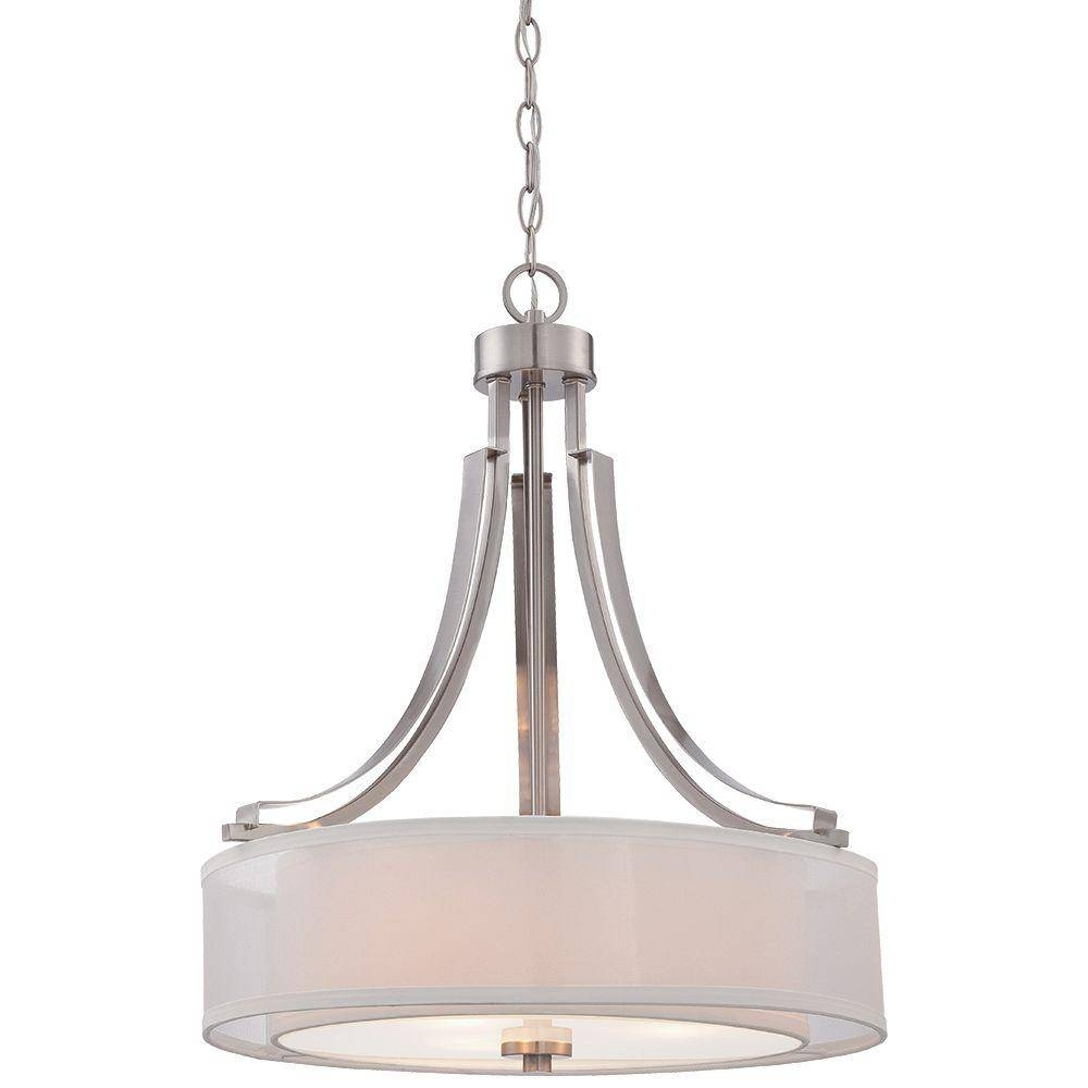Minka Lavery Parsons Studio 3-Light Brushed Nickel Pendant-4104-84 intended for Minka Lavery Pendant Lights (Image 11 of 15)