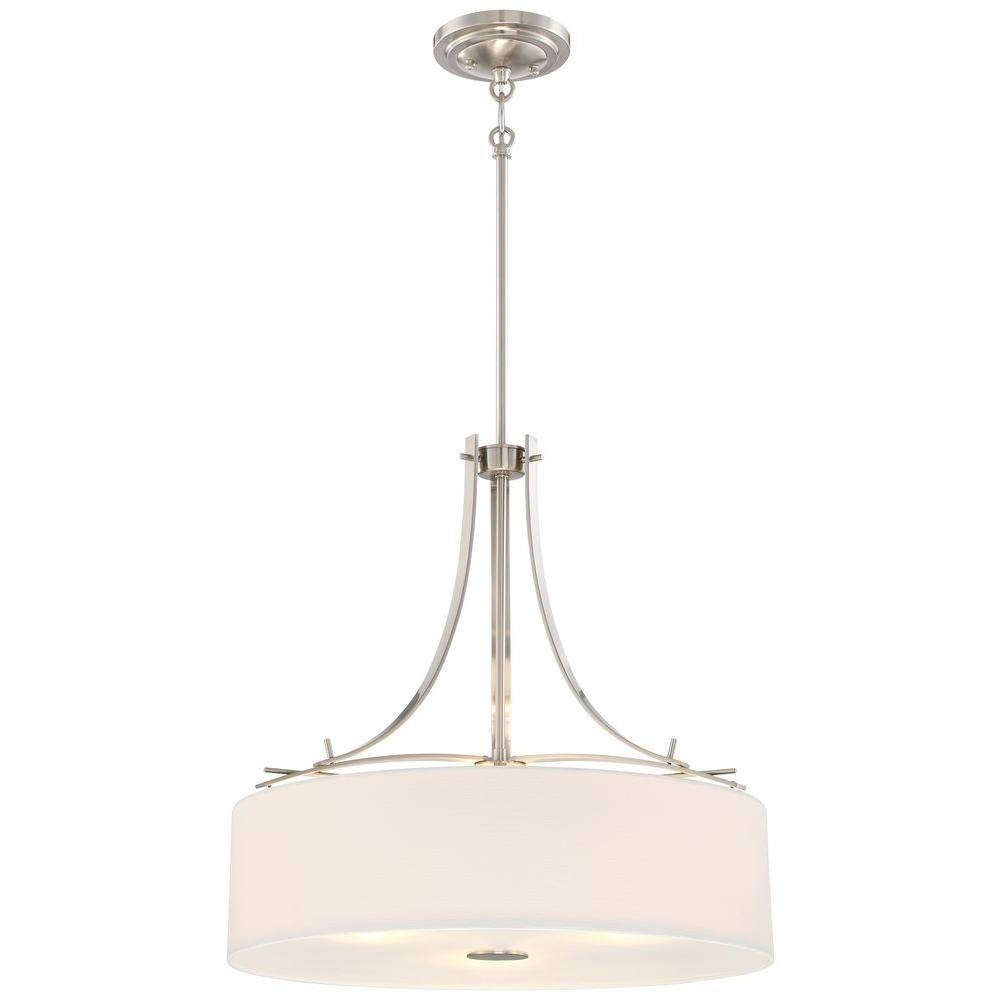 Minka Lavery Poleis 3-Light Brushed Nickel Pendant-3308-84 - The intended for Minka Lavery Pendant Lights (Image 14 of 15)
