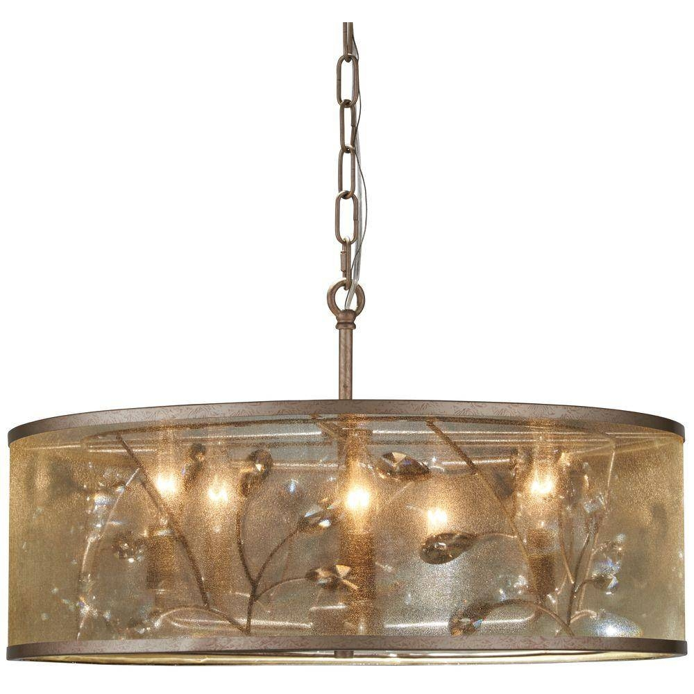 Minka Lavery Sara's Jewel 5-Light Nanti Champagne Silver Pendant intended for Minka Lavery Pendant Lights (Image 15 of 15)
