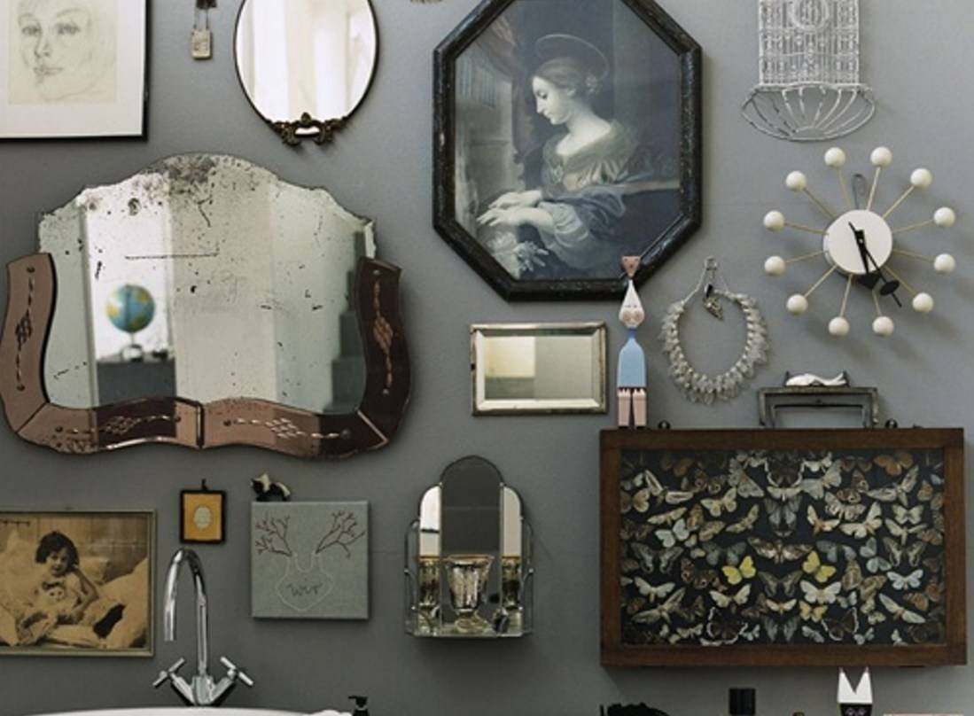 Mirror : Antique Wall Mirrors Gratifying Antique Brass Wall inside Old Fashioned Wall Mirrors (Image 8 of 15)