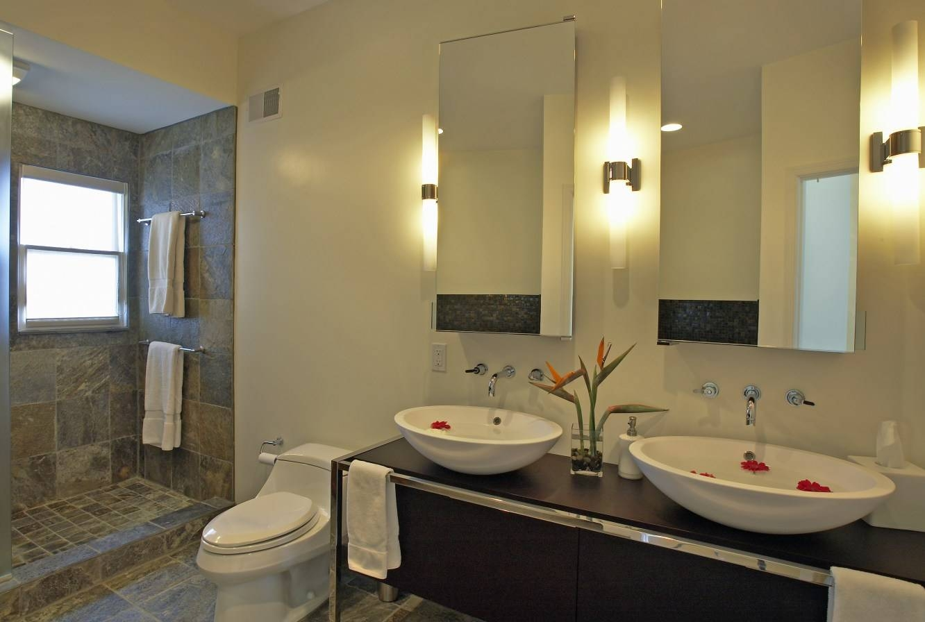 Mirror : Bathroom Mirrors And Lighting 4 Stunning Decor With in Cheap Contemporary Mirrors (Image 1 of 15)