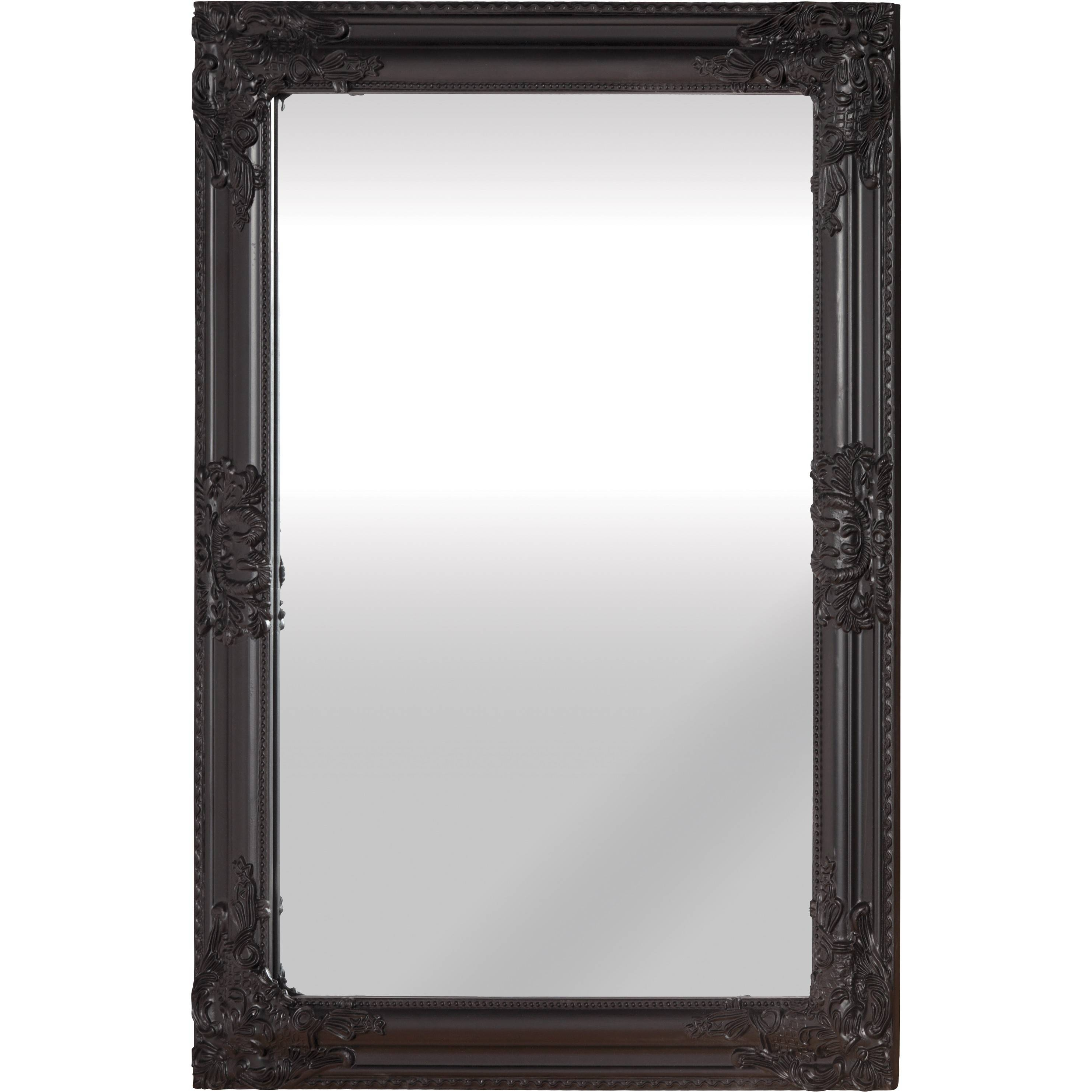 Mirror (Black) with Antique Black Mirrors (Image 8 of 15)